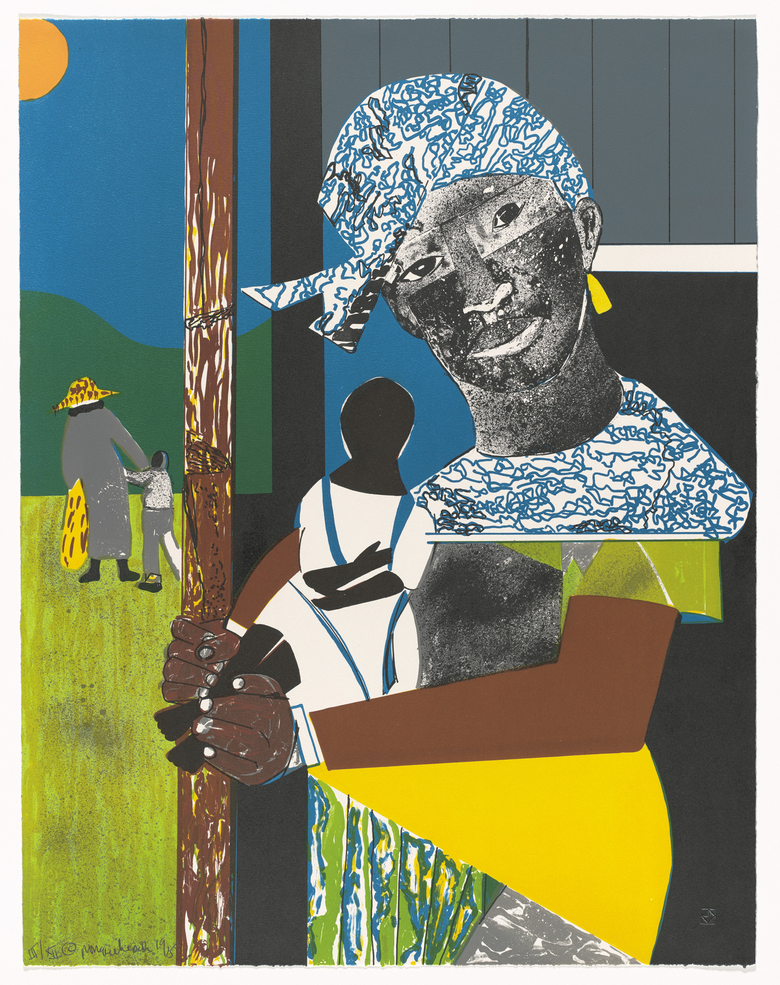 Romare Bearden. Come Sunday from 1776 USA 1976 Bicentennial Prints. 1975, published 1976