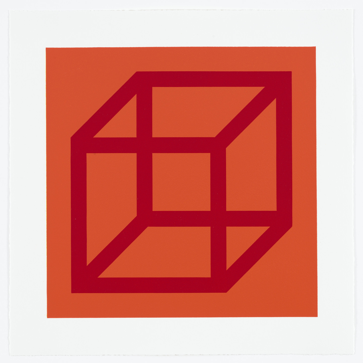 Sol LeWitt. Untitled from Cubes in Color on Color. 2003