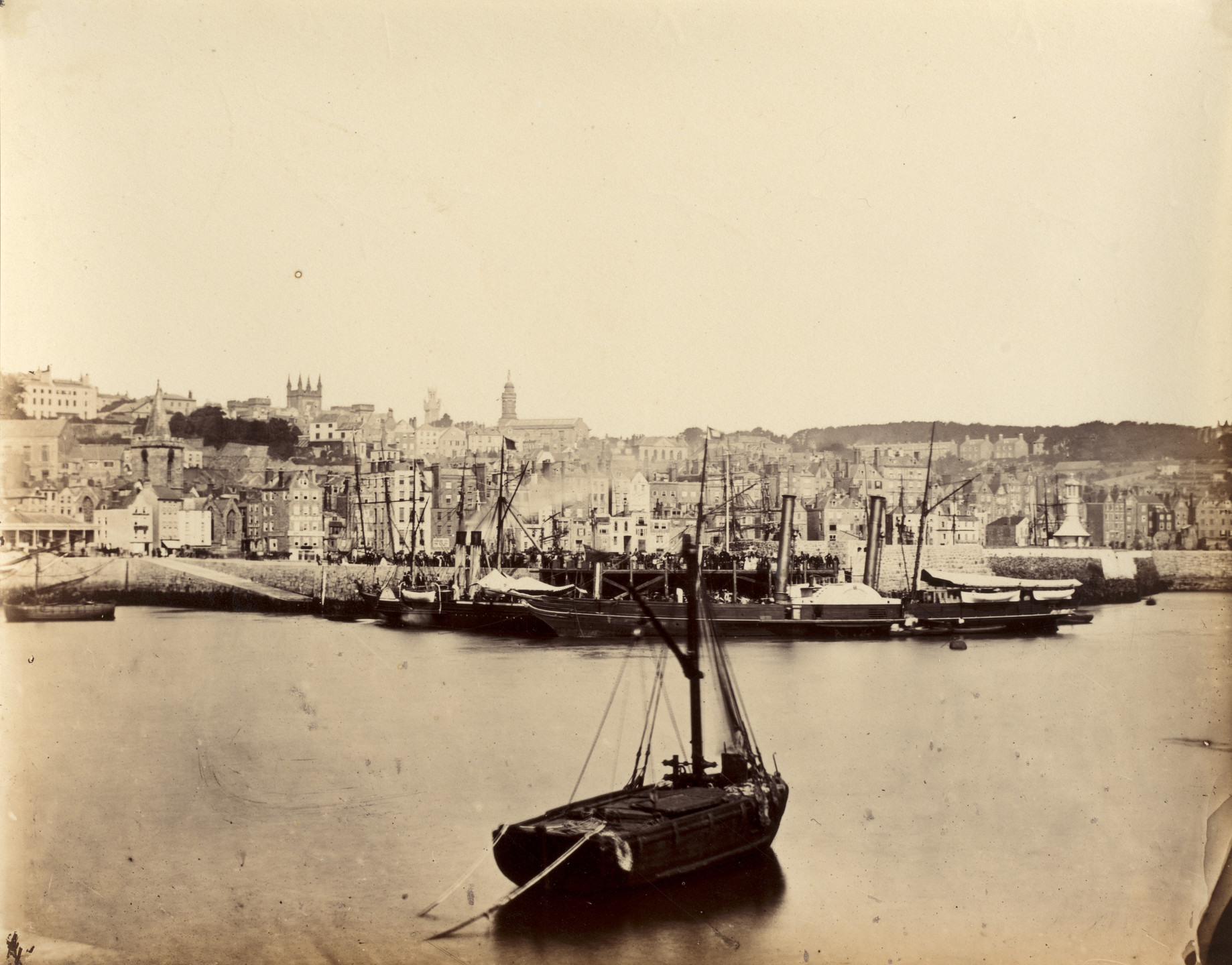 Alfred Capel Cure. Jersey from the Pier, A.L.M.. 1859