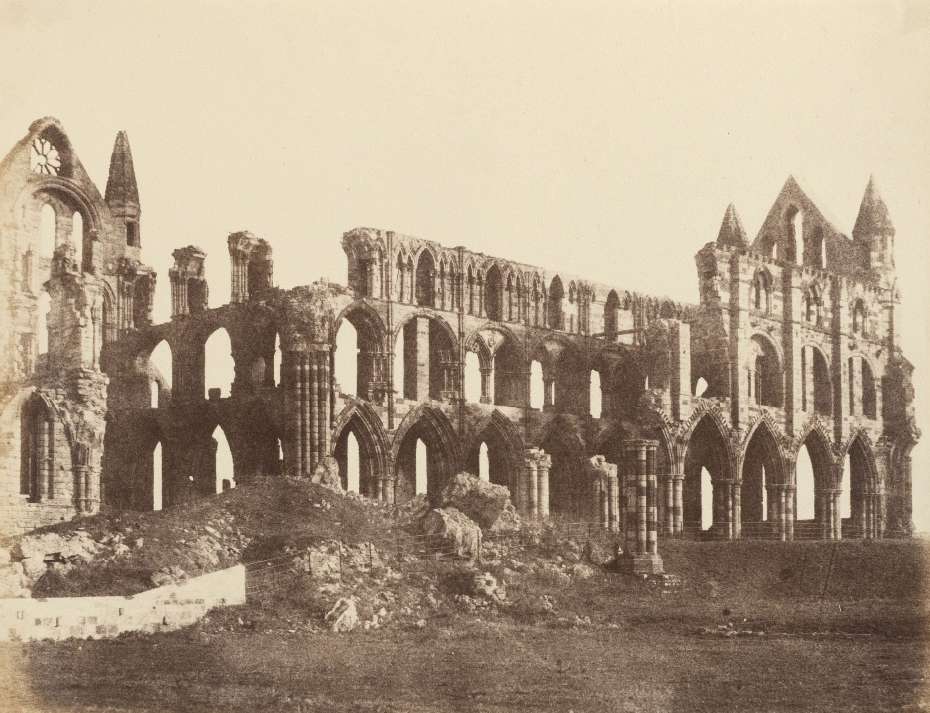 Alfred Capel Cure. Whitby Abbey from the Southwest. October 1856