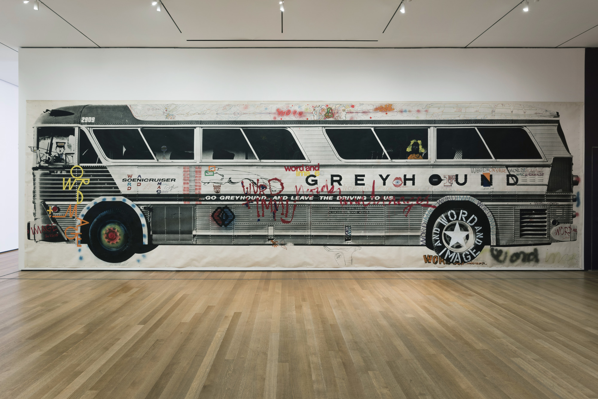 Mason Williams, Various Artists, Max Yavno. Bus (Copy signed by artists from the Word and Image exhibition, 1968). 1967–1968