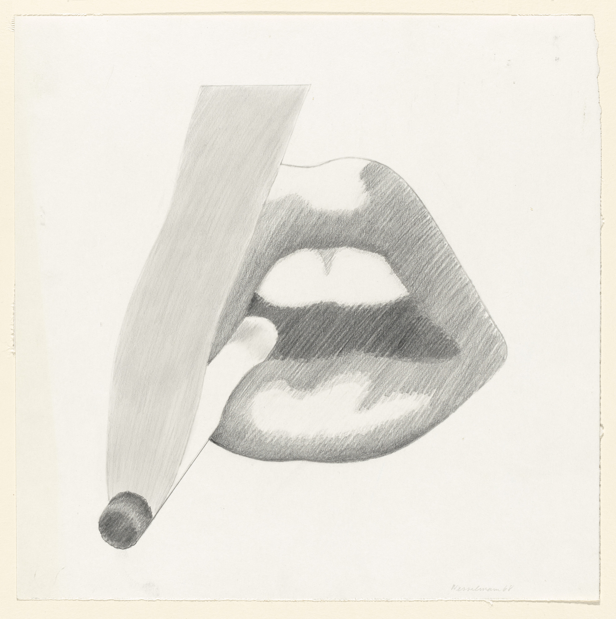 Tom Wesselmann. Study for Smoker, 4 (Mouth, 18). 1968