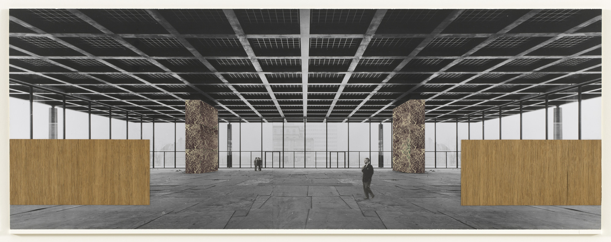 Ludwig Mies van der Rohe. New National Gallery, Berlin, Germany (Interior perspective). c.1962–1968