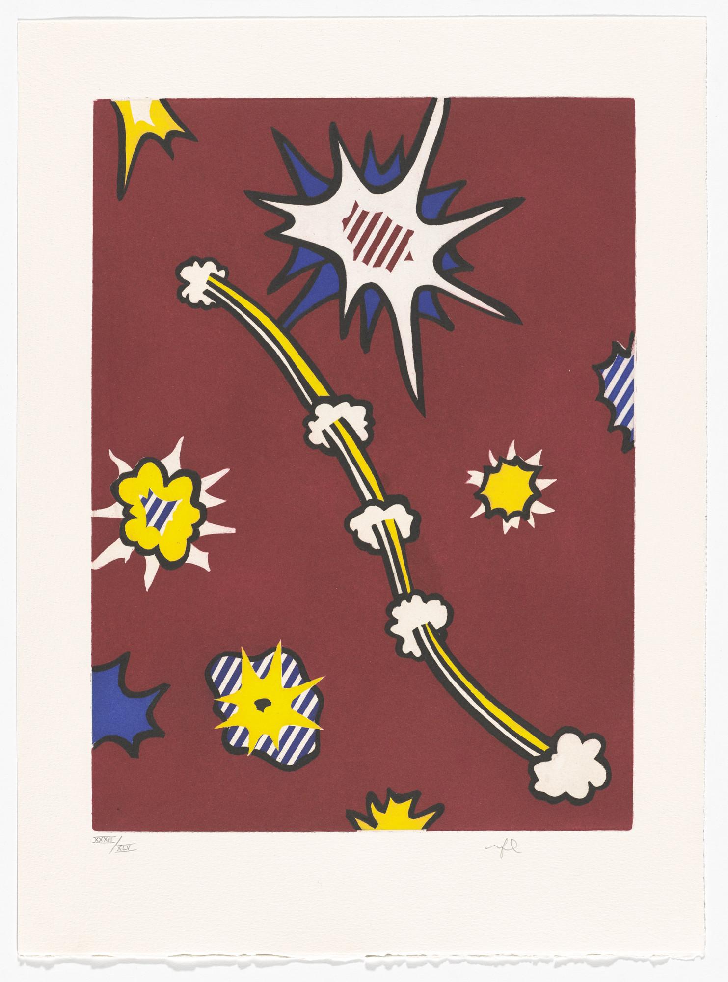 Roy Lichtenstein Plate Page 105 From La Nouvelle Chute Damrique