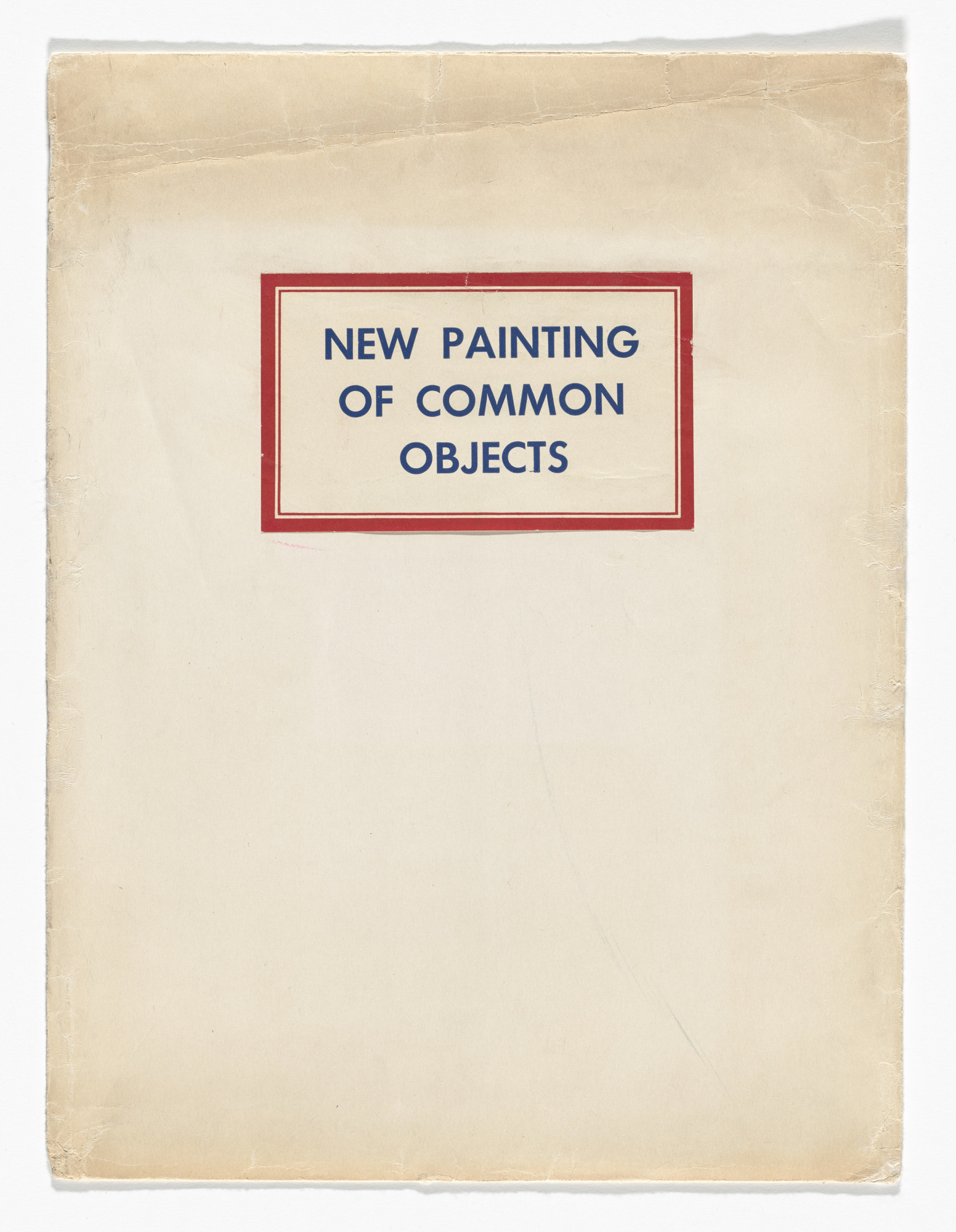 Various Artists, Jim Dine, Robert Dowd, Joe Goode, Phillip Hefferton, Edward Ruscha. New Painting of Common Objects. 1962