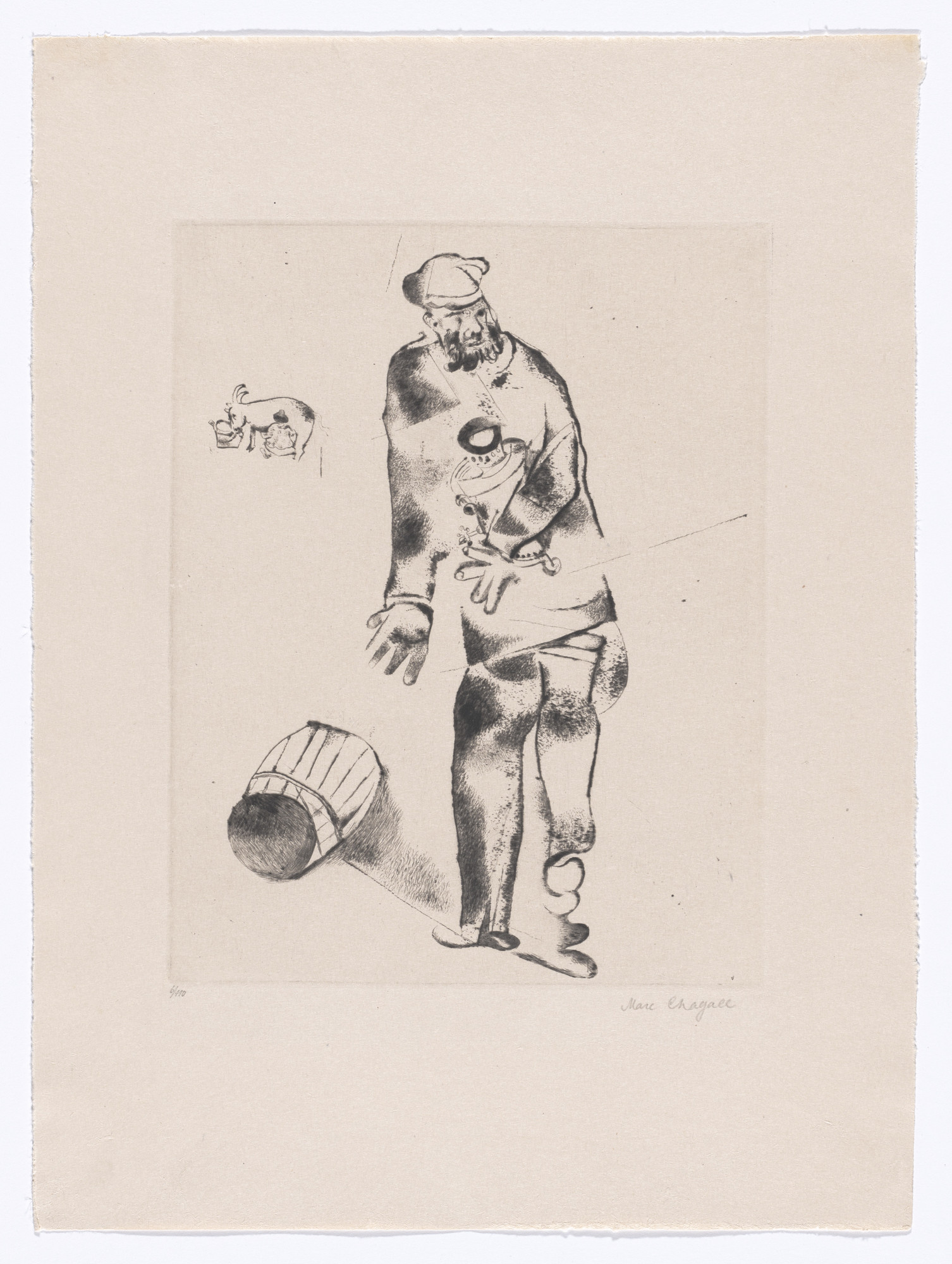 Marc Chagall. The Father (Der Vater) from My Life (Mein Leben). 1922, published 1923