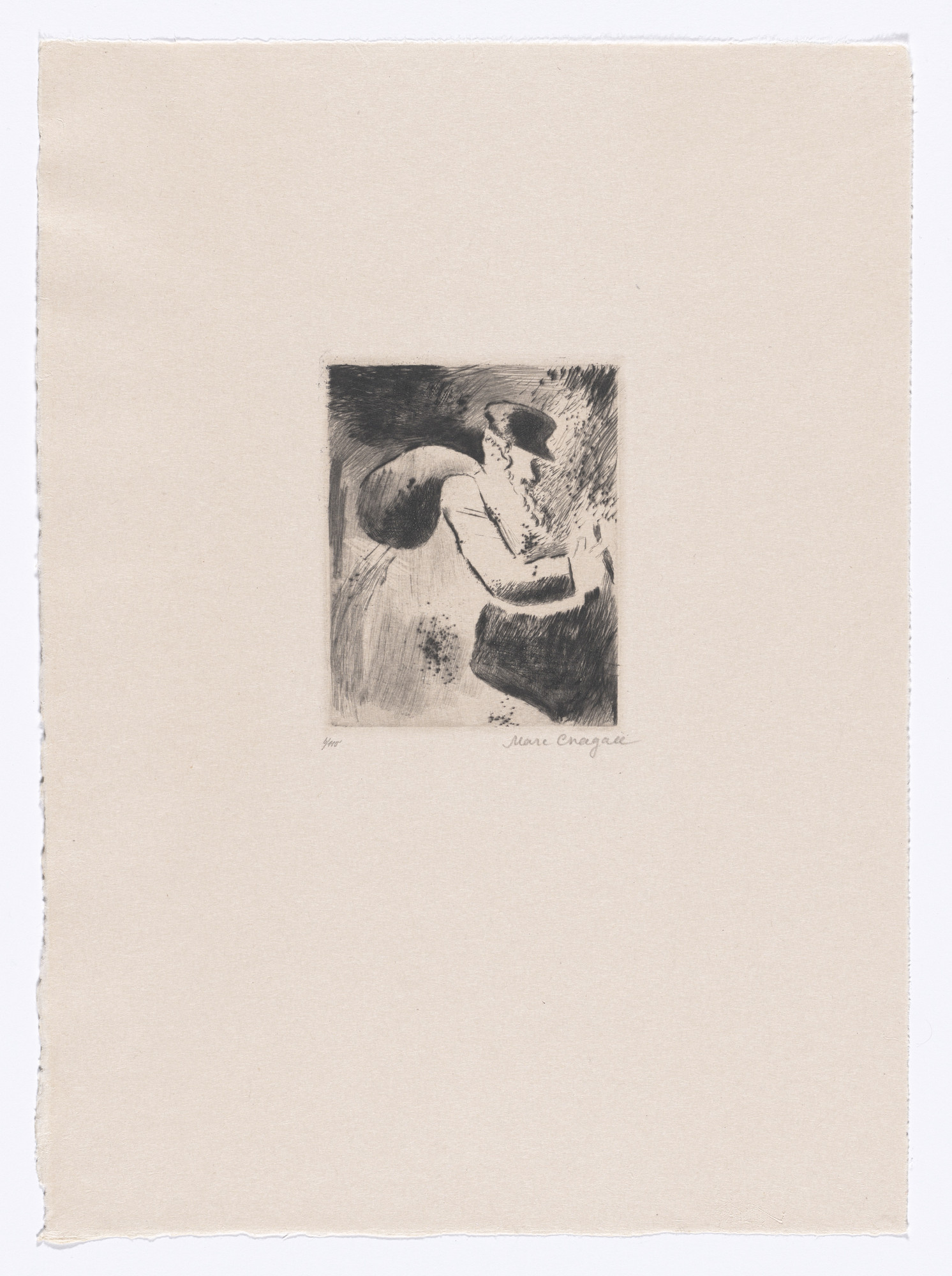 Marc Chagall. An Old Jew (Ein alter Jude) from My Life (Mein Leben). 1922, published 1923