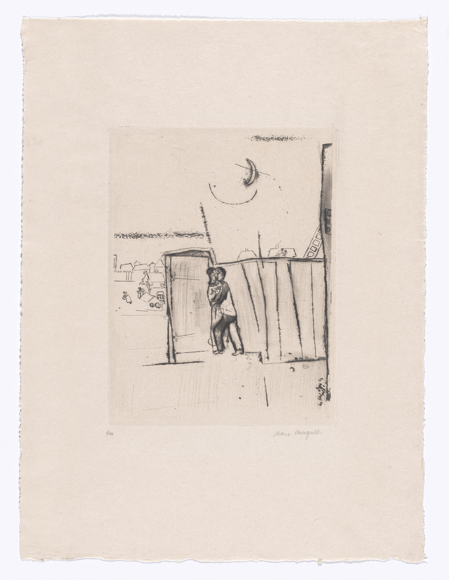 Marc Chagall. At the Gate (Vor dem Tore) from My Life (Mein Leben). 1922, published 1923