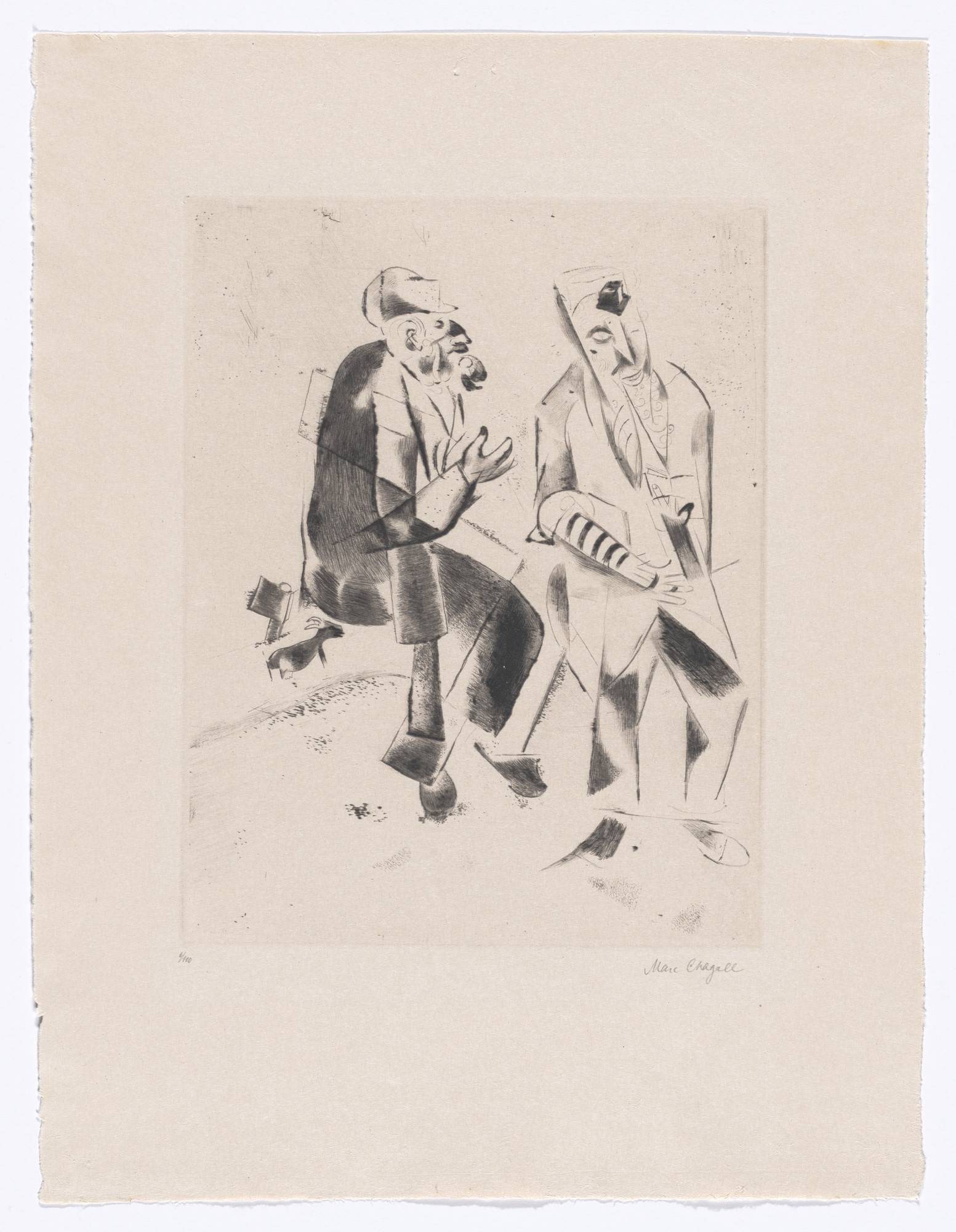 Marc Chagall. The Grandfathers (Die Grossväter) from My Life (Mein Leben). 1922, published 1923