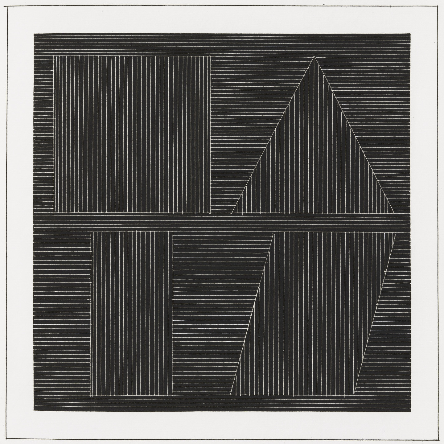 Sol LeWitt. Plate (folio 50) from Six Geometric Figures and All Their Combinations, Volume I. 1980
