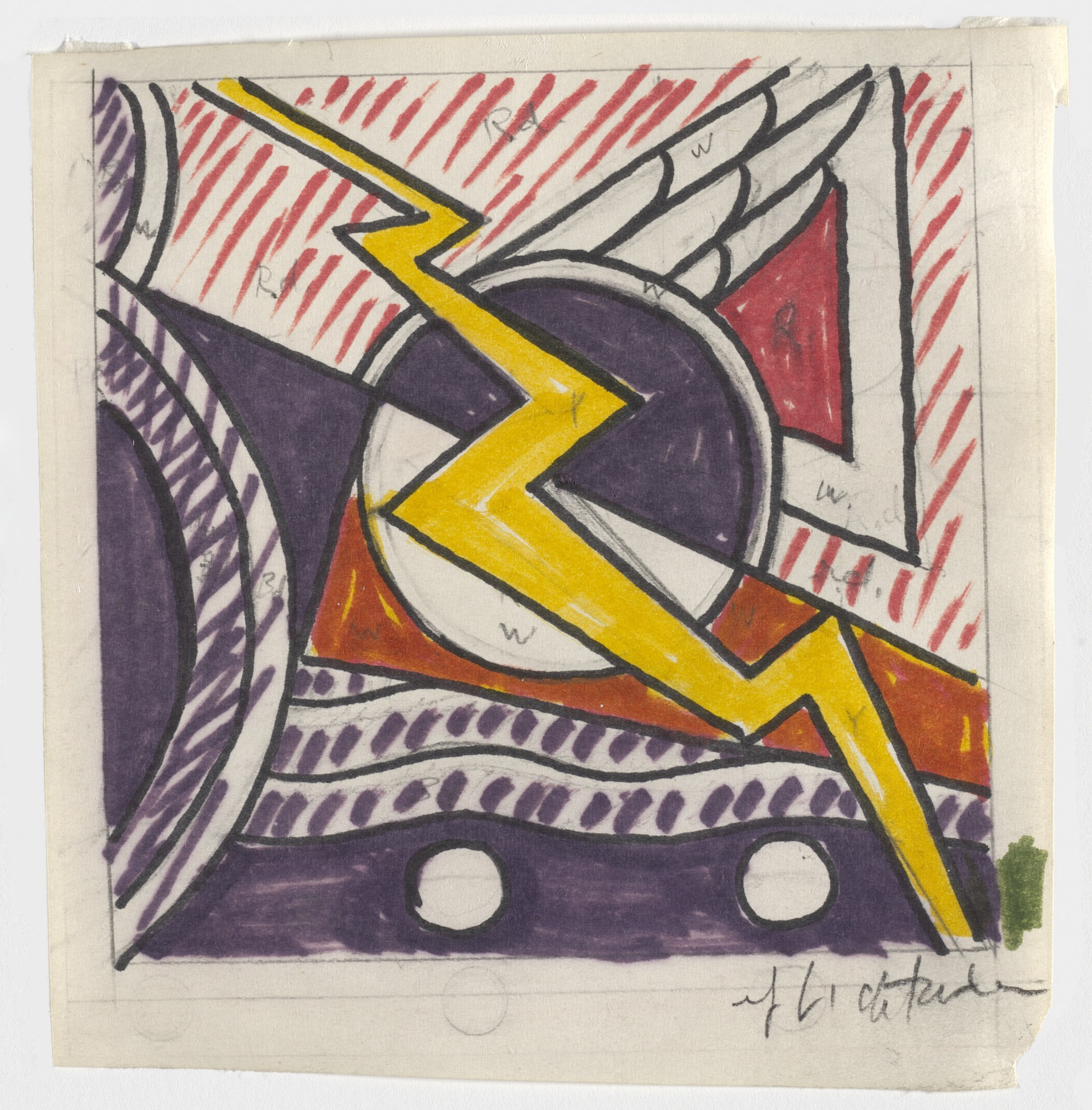 Roy Lichtenstein. Study for Modern Painting with Bolt. 1966
