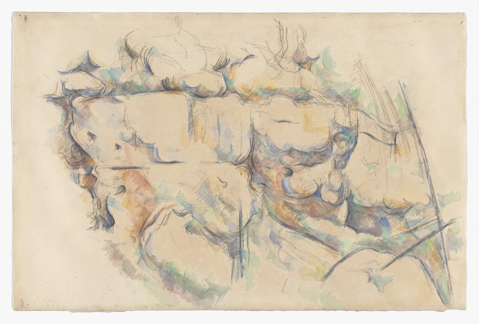 Paul Cézanne. Rocks Near the Caves above Château Noir. 1895–1900 | MoMA