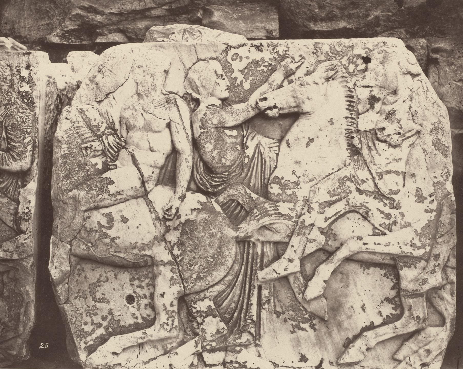 William James Stillman. Fragment of Frieze from the Parthenon. 1869