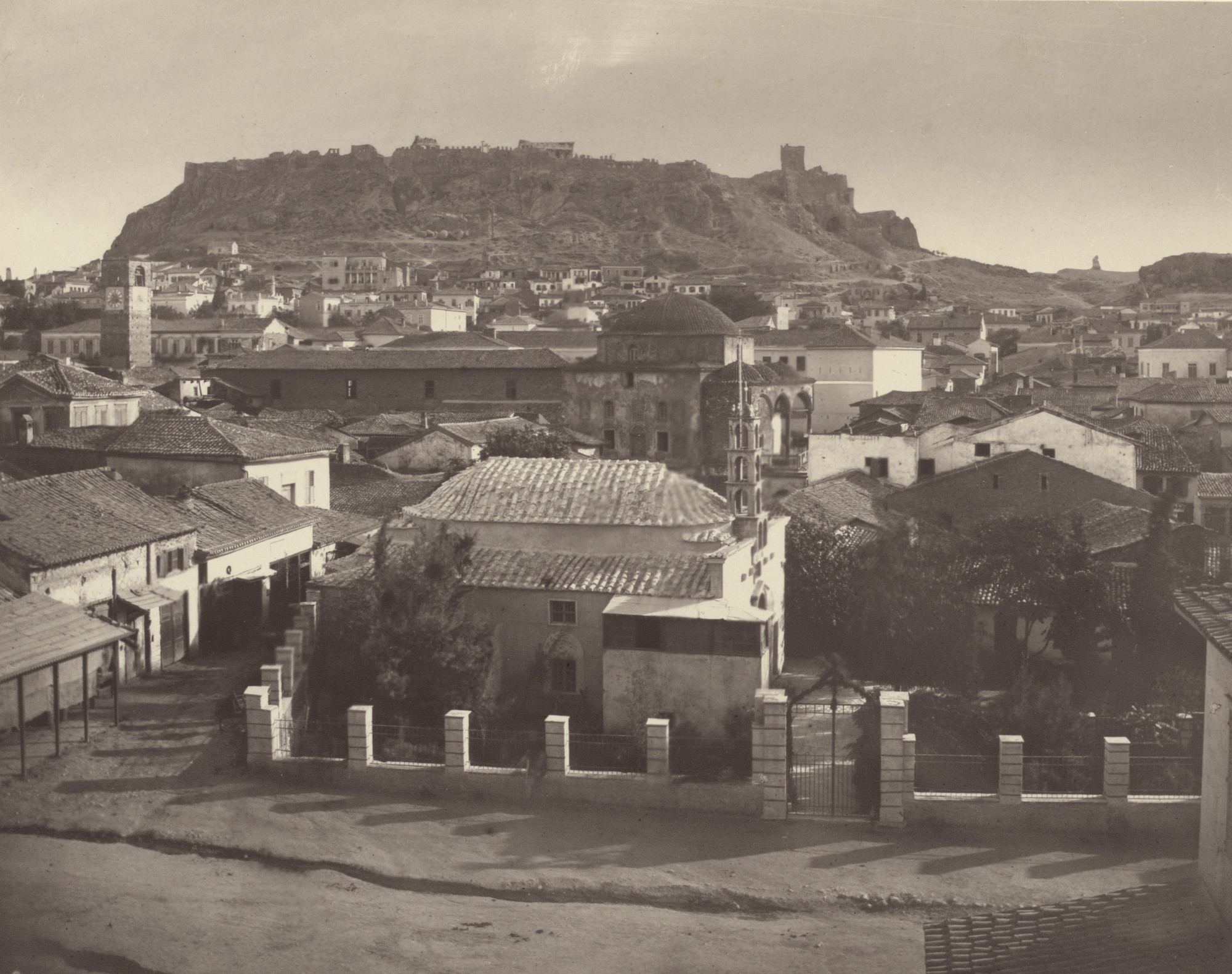 William James Stillman. View of the Acropolis from the North, with the Turkish Town at the Foot of the Hill. 1869