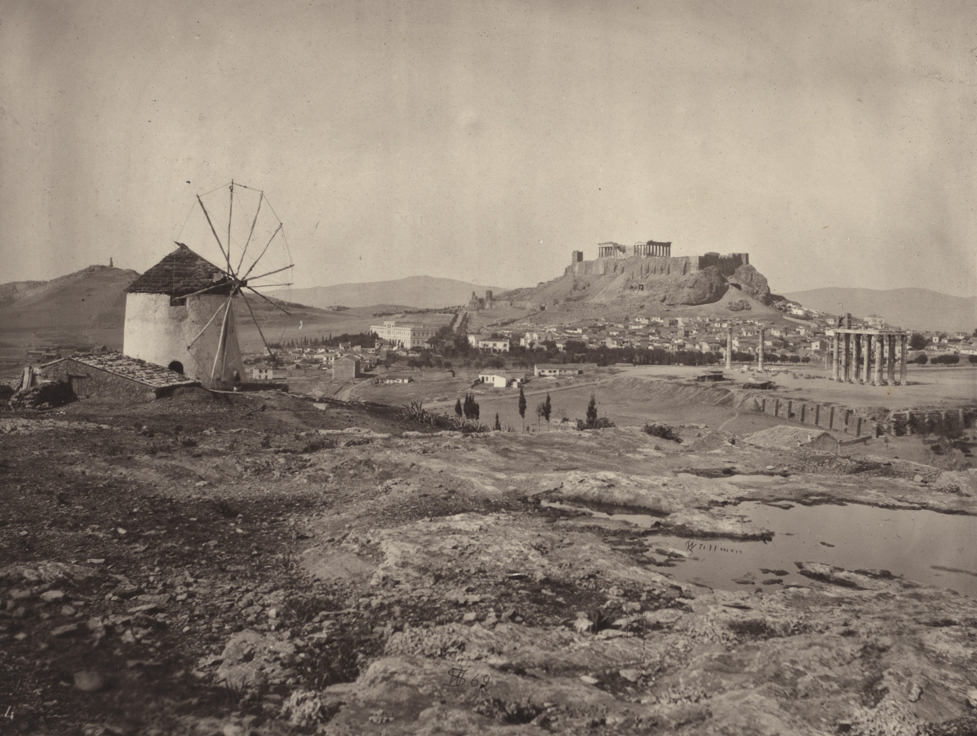 William James Stillman. The Acropolis, From the Hill above the Ilissus, Looking North-West. 1869