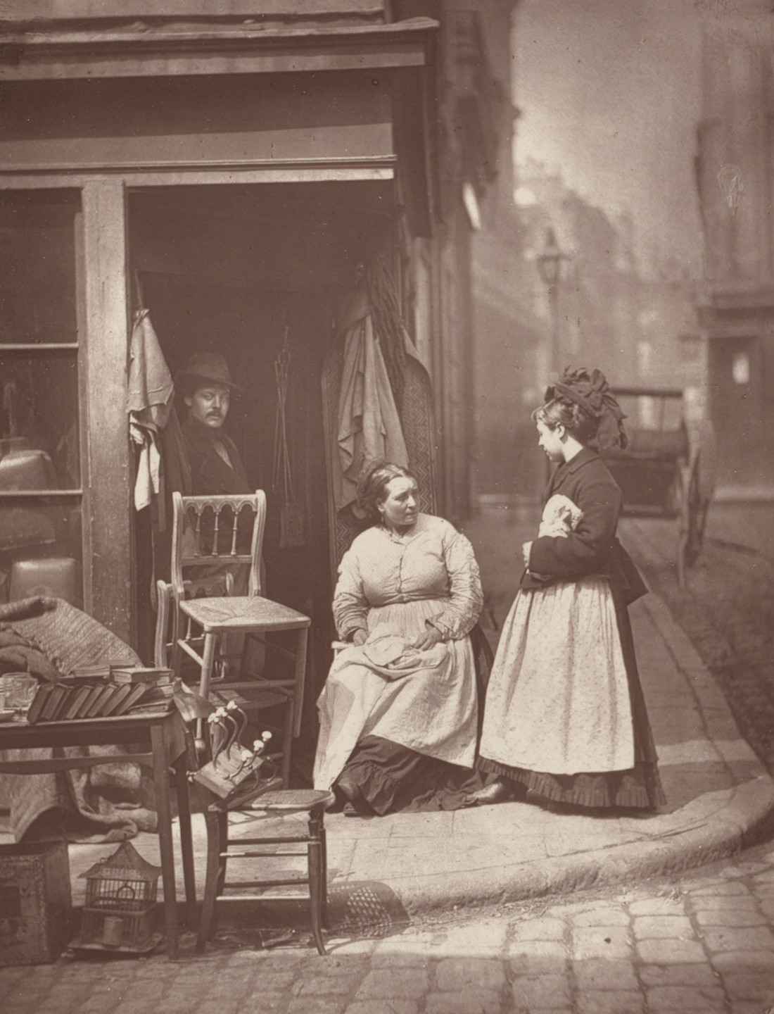 John Thomson. Old Furniture from the album Street Life in London. 1877