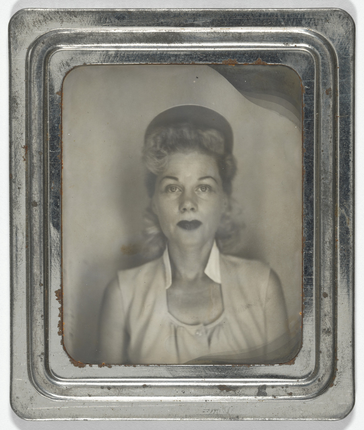 Unknown photographer. Photobooth self-portraits. 1940s
