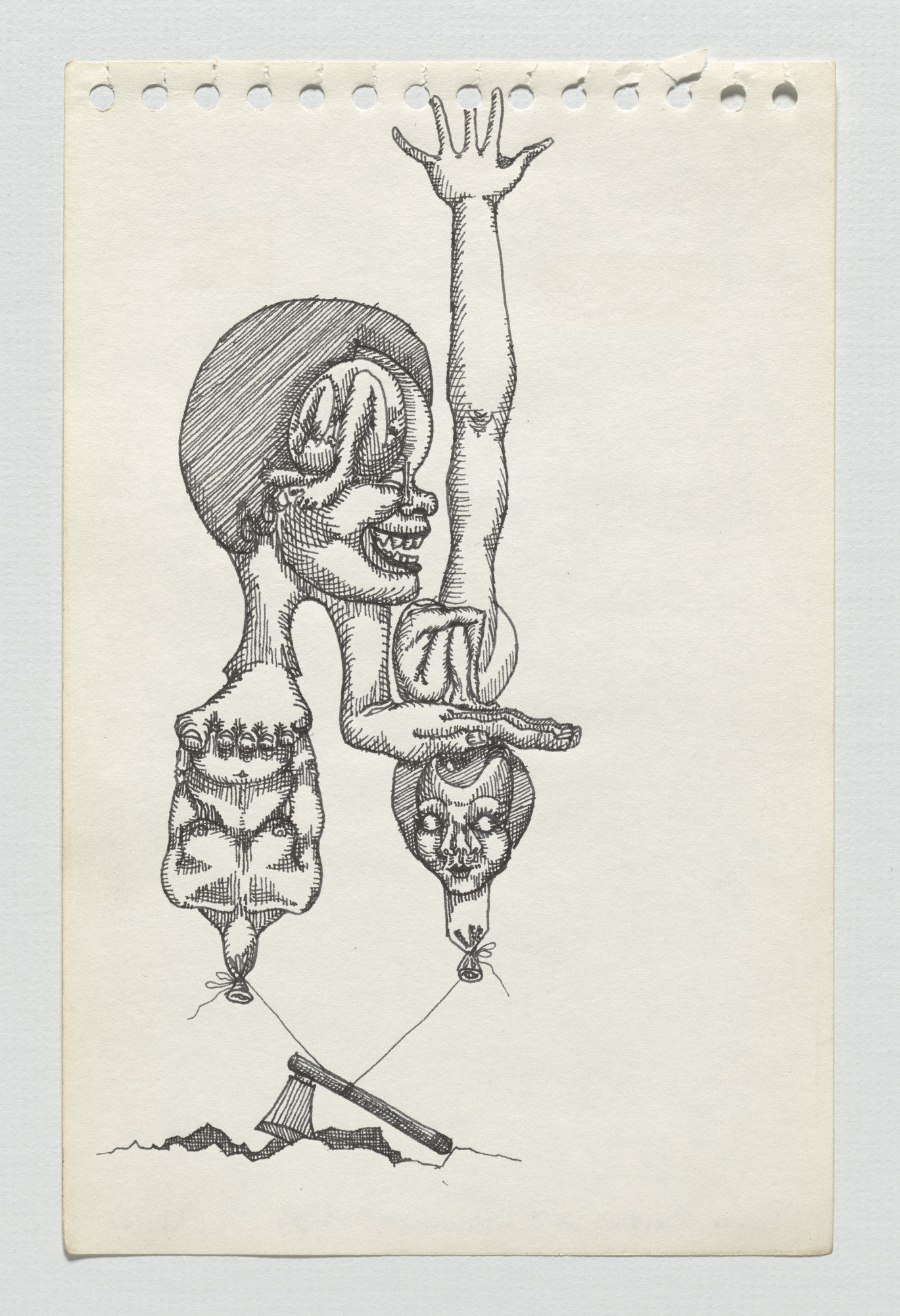 Adrian Piper. The Barbie Doll Drawings. 1967