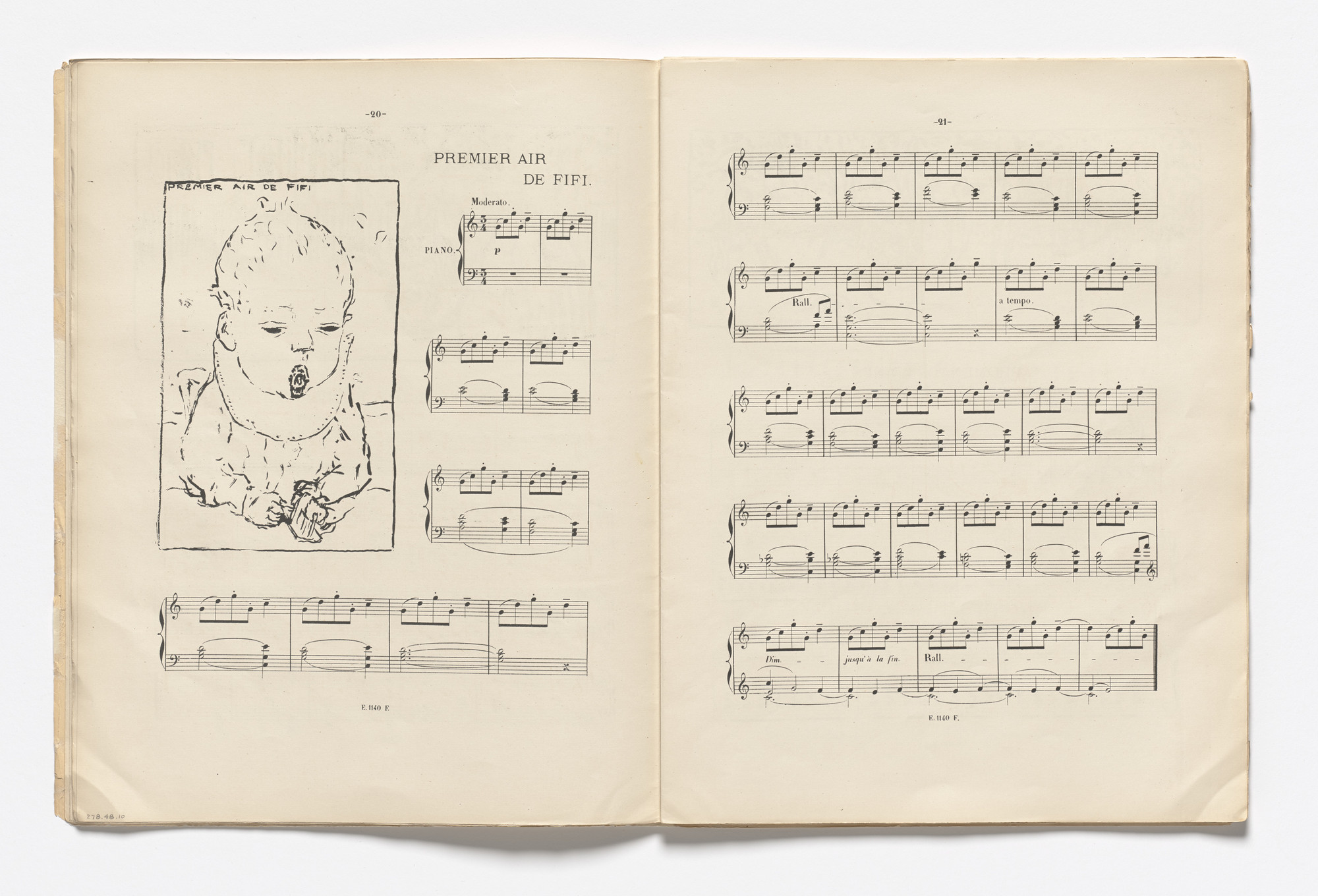 Pierre Bonnard. Fifi's First Song (Premier air de Fifi) (headpiece, page 20) from Petites scènes familières. 1893–94, published 1895