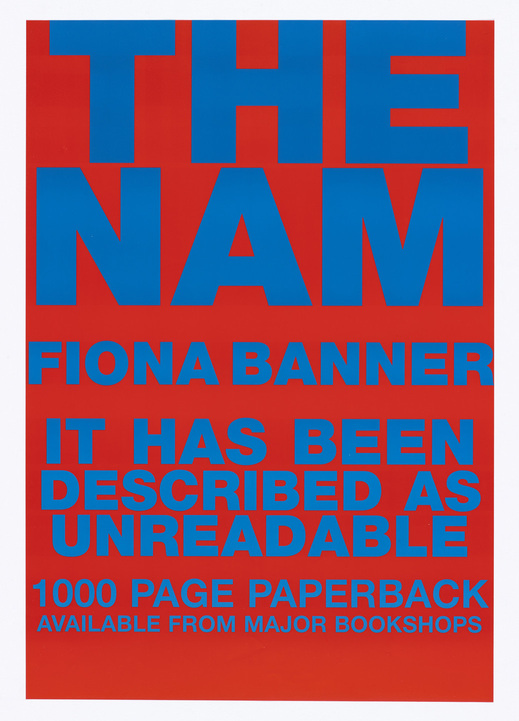 Fiona Banner. Poster for The Nam. 1997