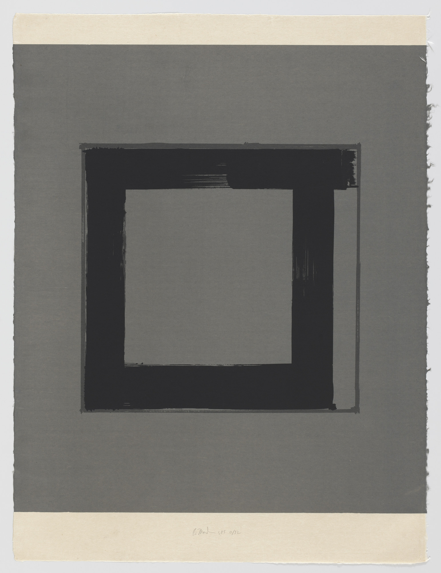Brice Marden. 1 from the series 1,2,3,4. 1983