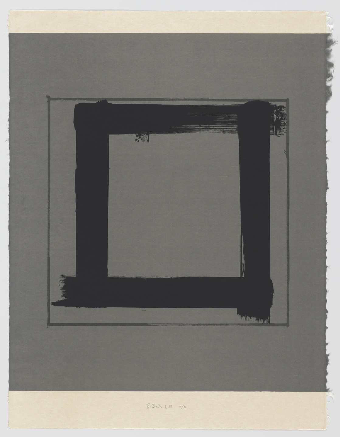 Brice Marden. 3 from the series 1,2,3,4. 1983