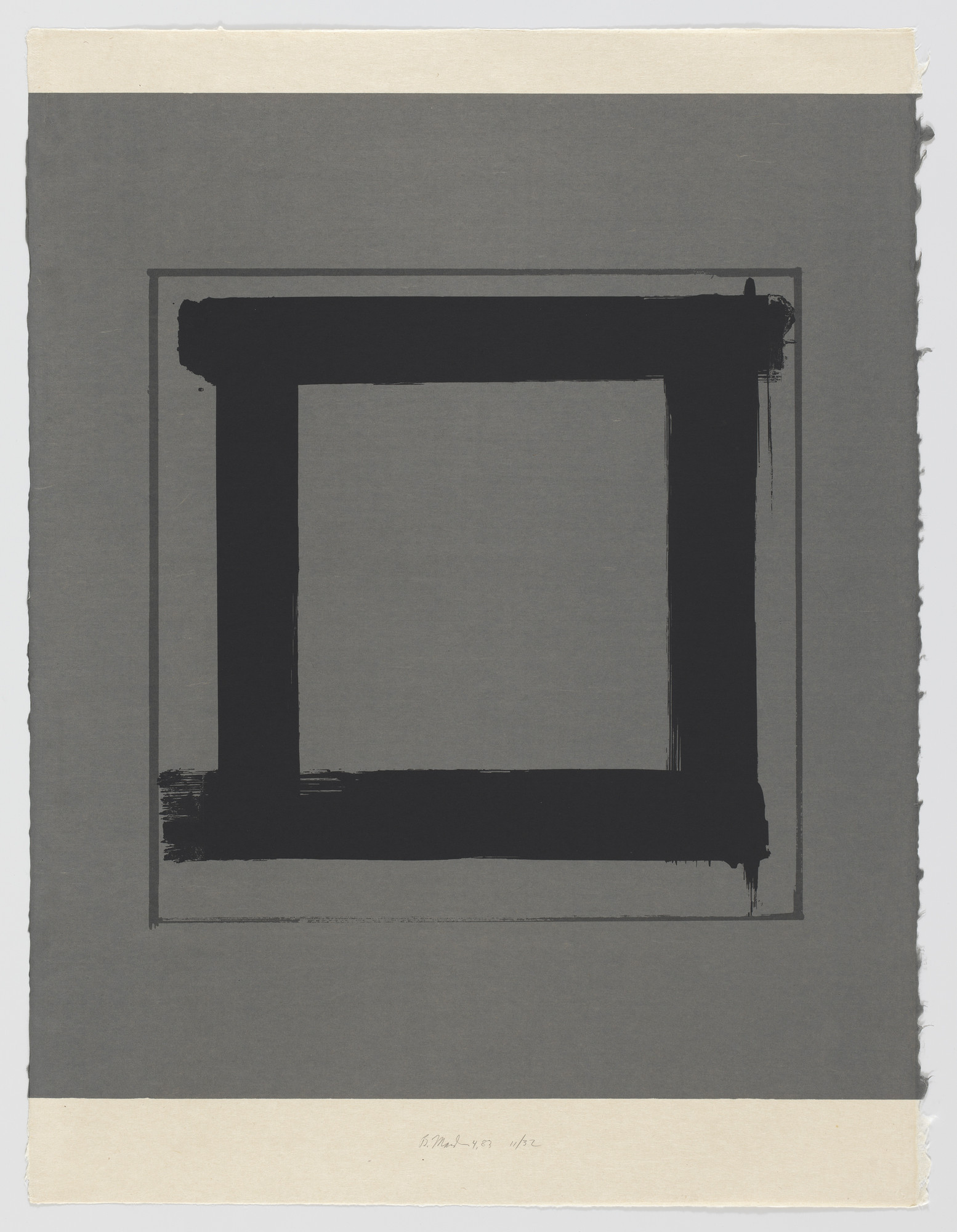 Brice Marden. 4 from the series 1,2,3,4. 1983