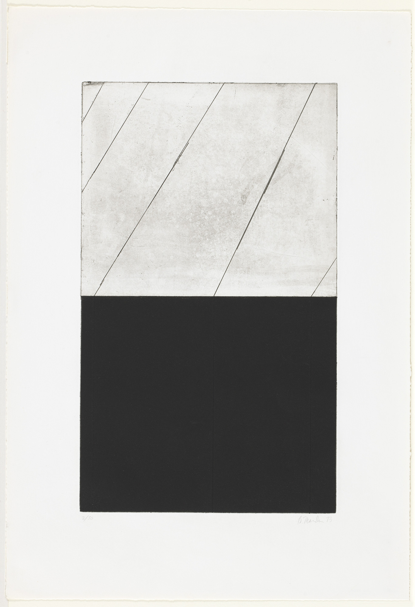 Brice Marden. Untitled, plate a from the series Adriatics. 1973
