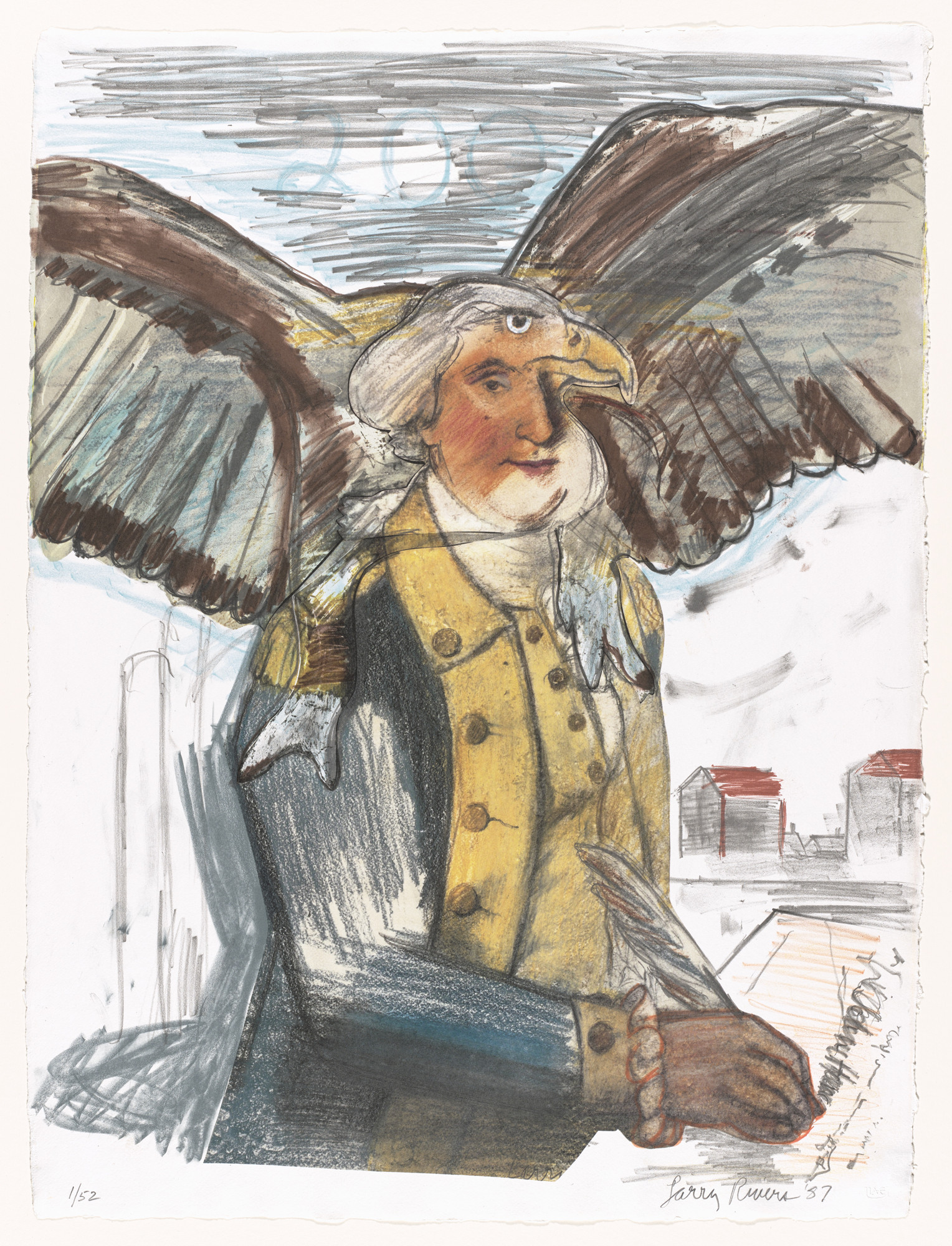 Larry Rivers. Bald Eagle, George and Part of the Constitution. 1987