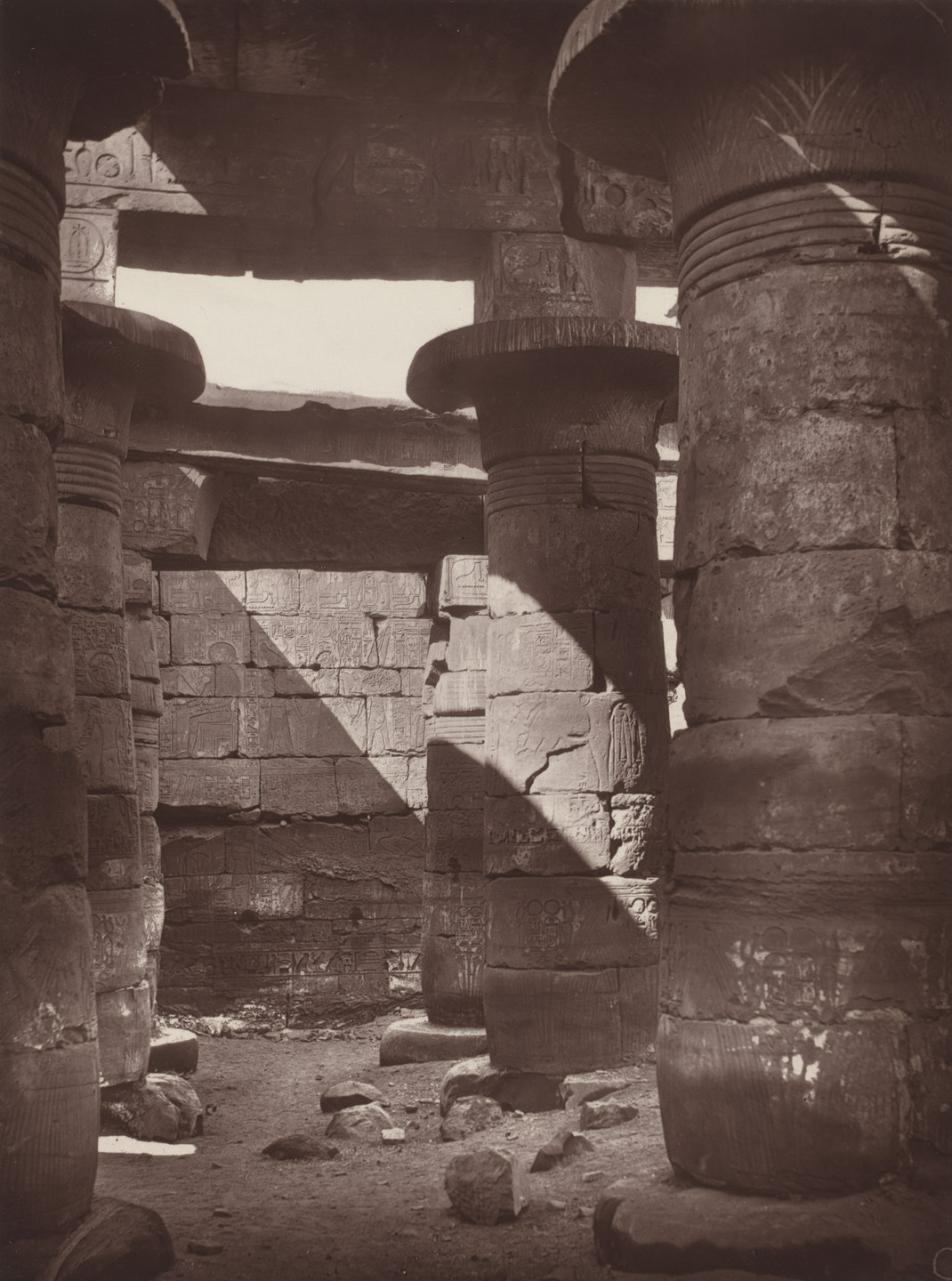 Captain William de Wiveleslie Abney. Interior of the Small Temple, Karnak. 1876