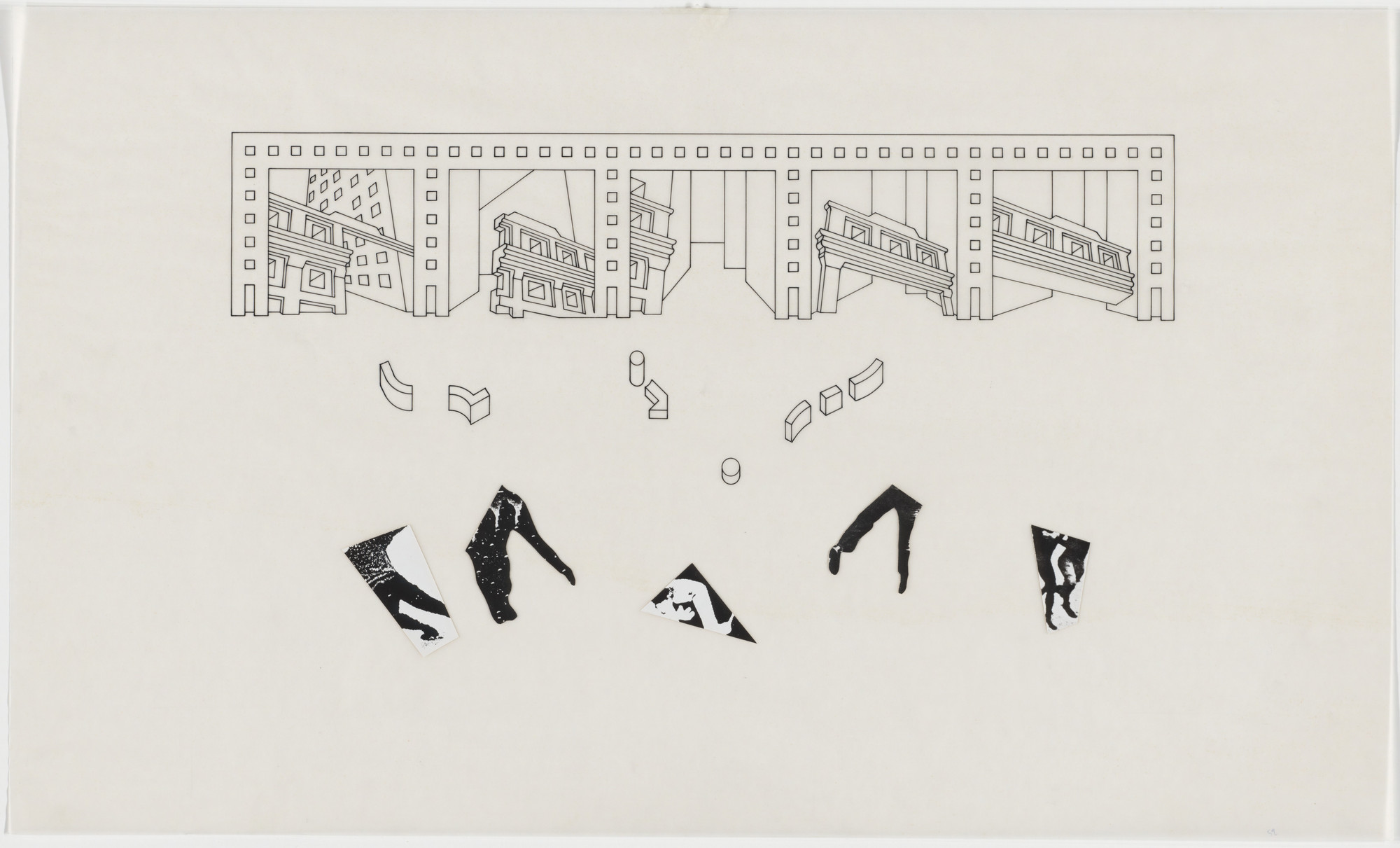 Bernard Tschumi. The Manhattan Transcripts Project, New York, New York, Episode 4: The Block. 1980-81