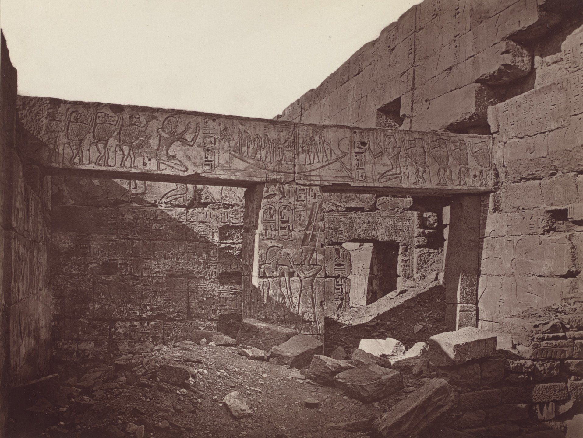 Captain William de Wiveleslie Abney. Side Chamber from the Hypostyle Hall. 1876