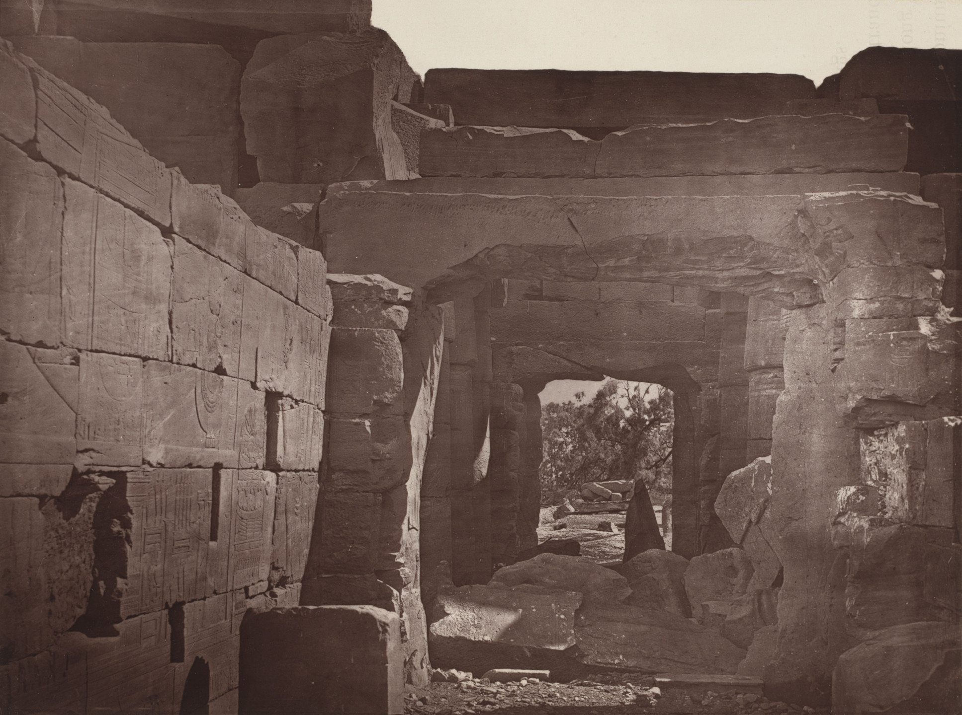 Captain William de Wiveleslie Abney. Interior View of the Tmeple of Goorneh. 1876