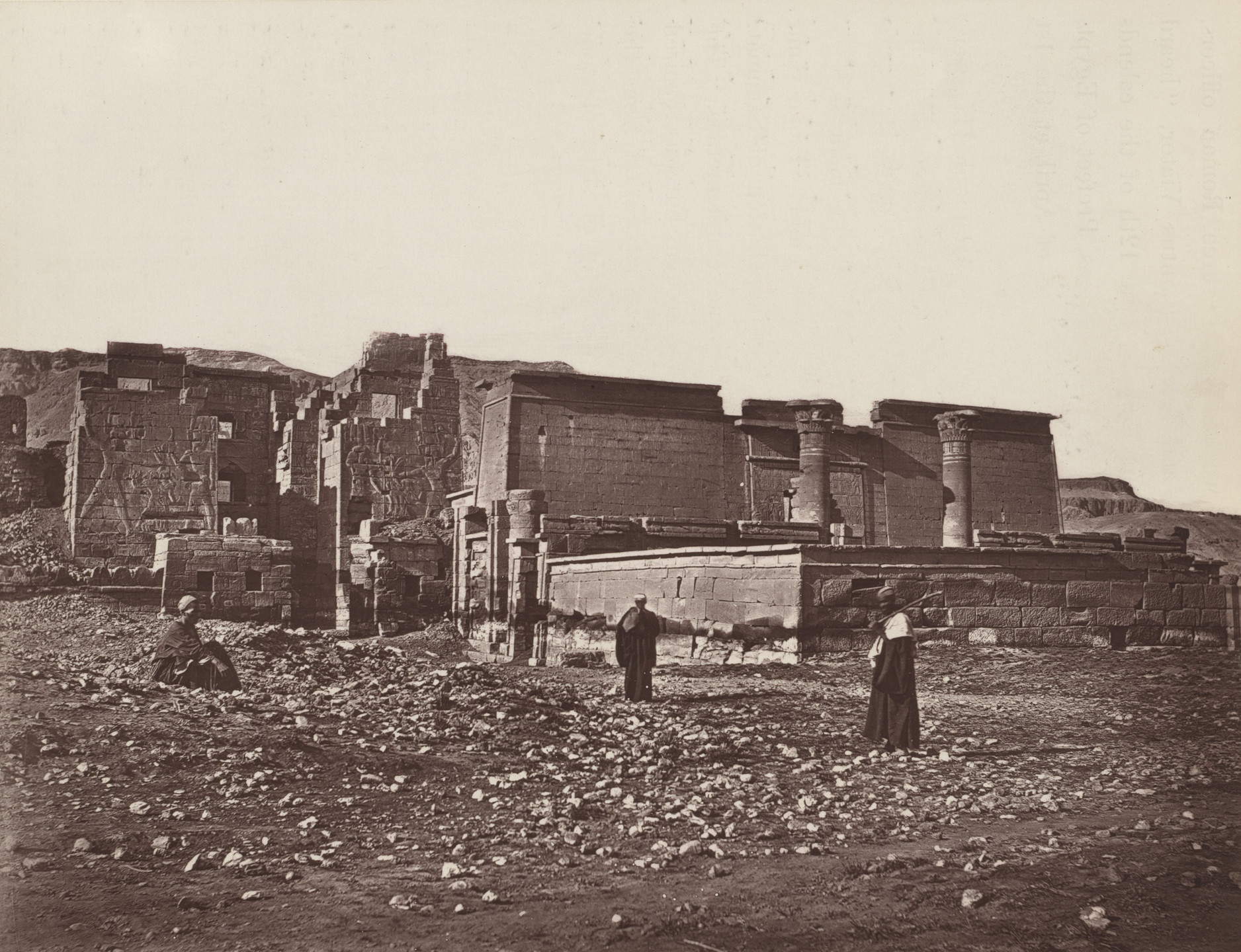 Captain William de Wiveleslie Abney. Exterior of the Small Temple, Medinet Haboo. 1876