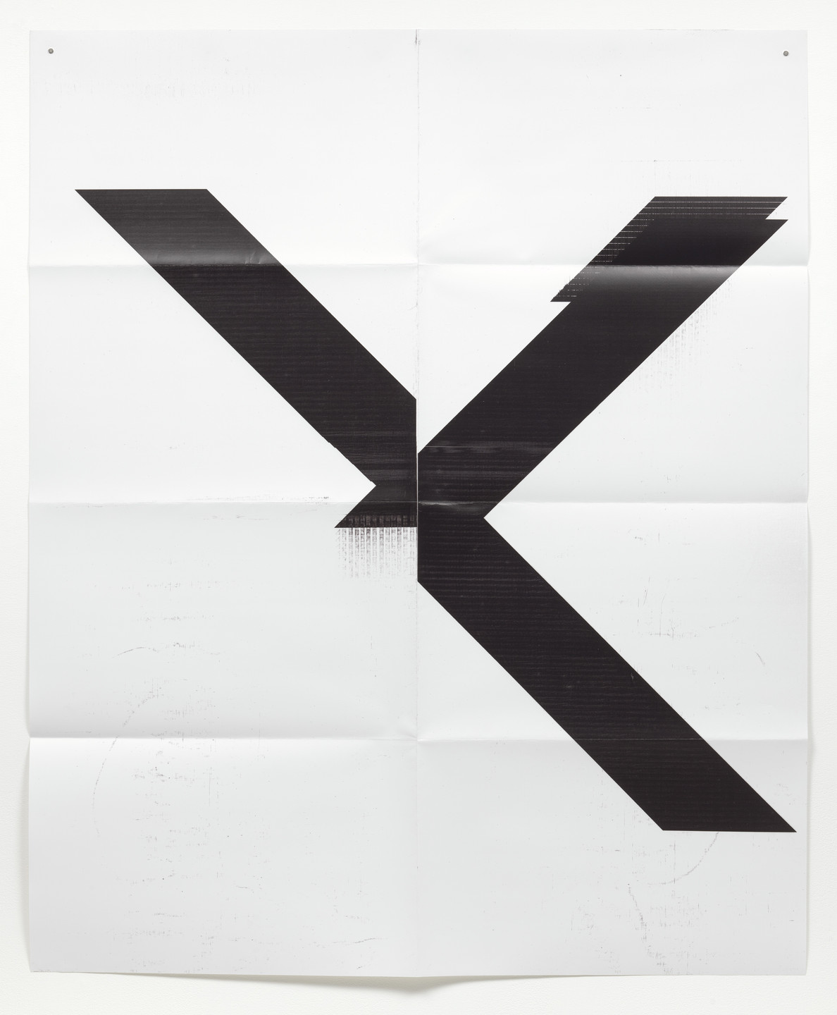 Wade Guyton. X Poster (Untitled, 2007, Epson UltraChrome inkjet on linen, 84 x 69 inches, WG1999). 2015