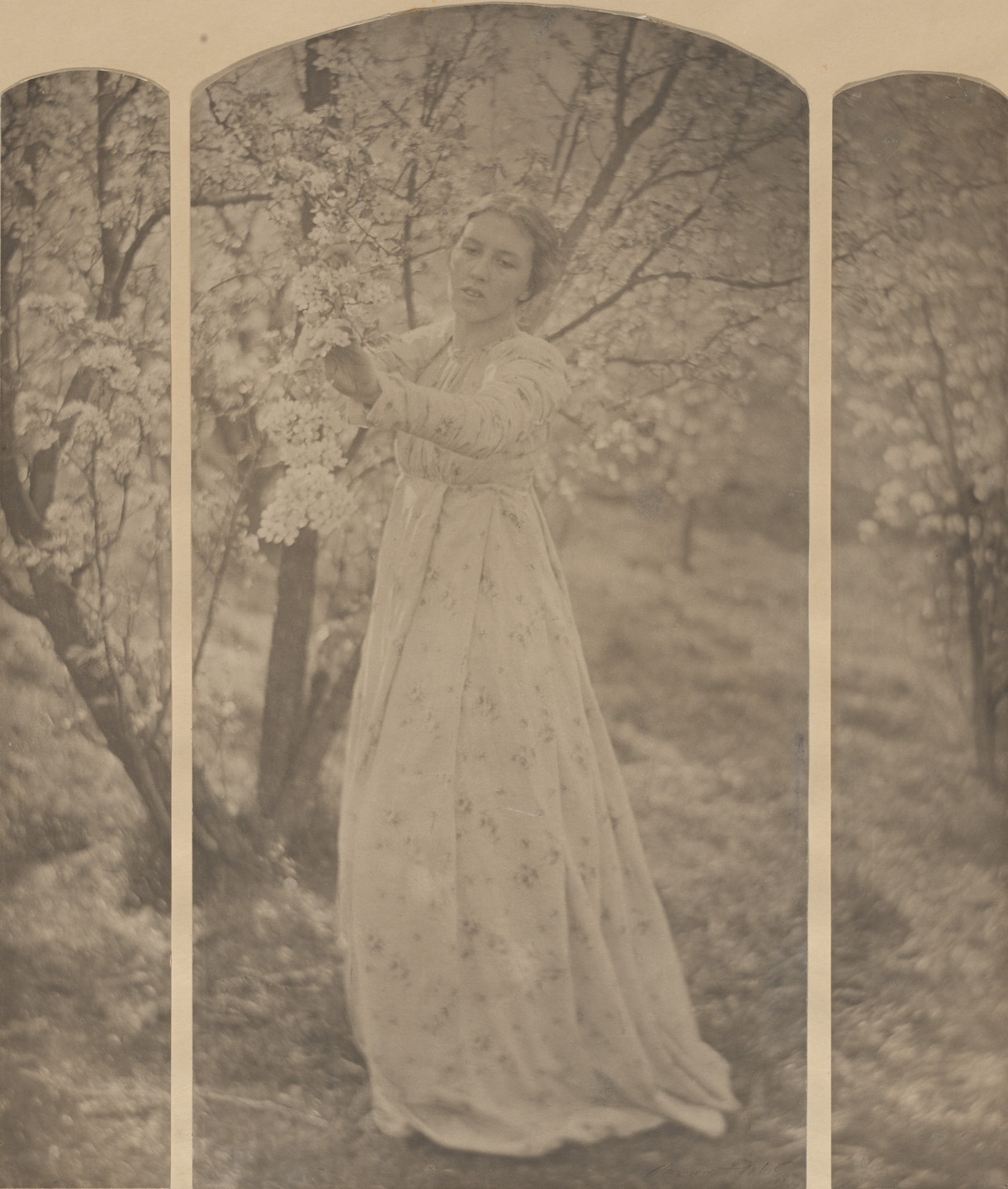 Clarence H. White. Spring—A Triptych. 1898