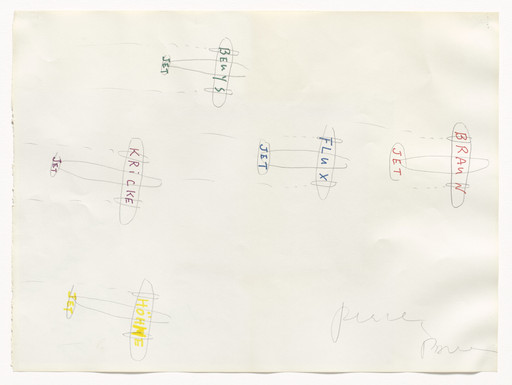 Nam June Paik. Flux Jets. 1985 (recto); 1979 (verso)