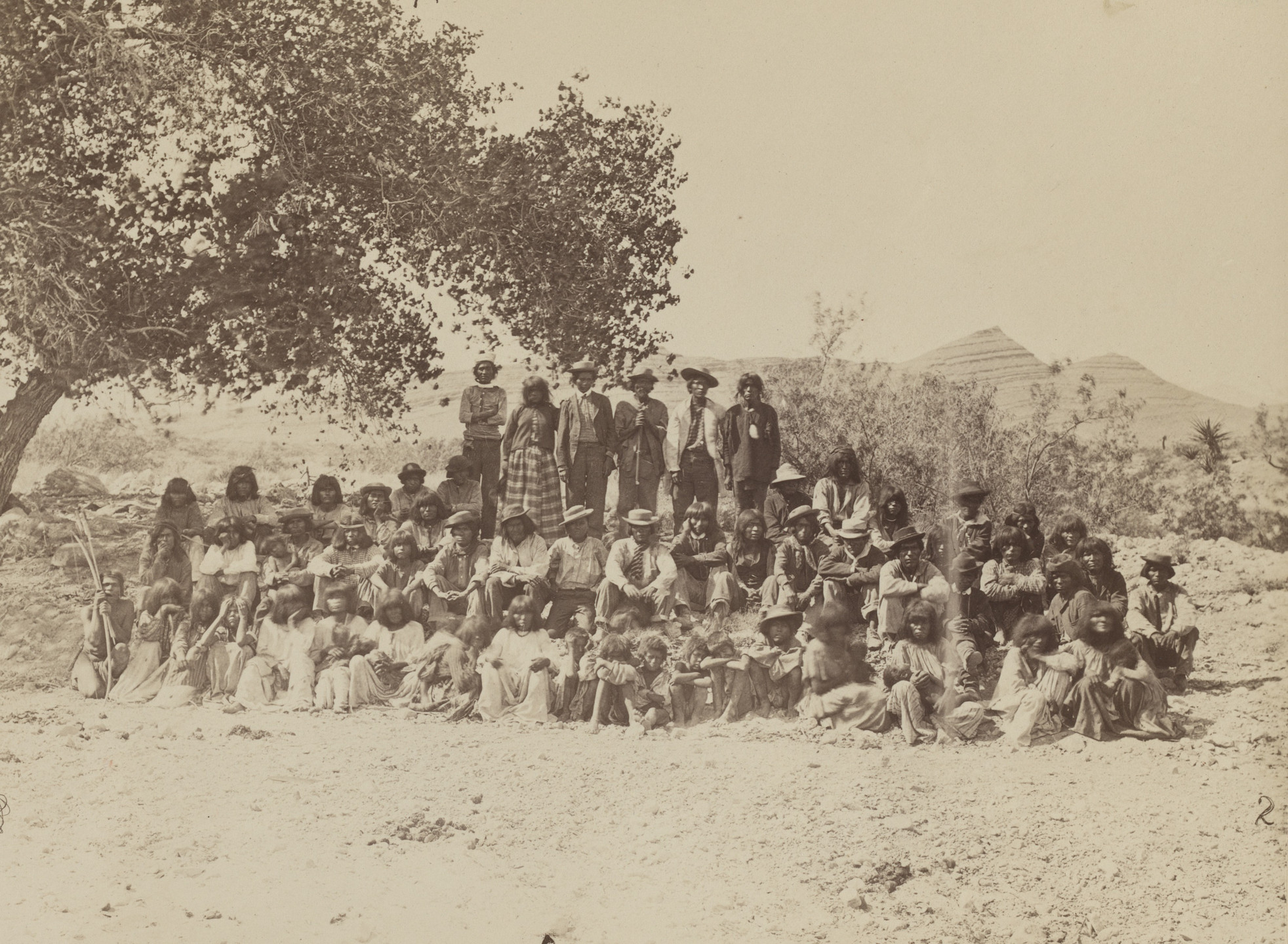 Timothy O'Sullivan. Group of Pah-Ute Indians, Nevada. Seasons of 1871, 1872 and 1873