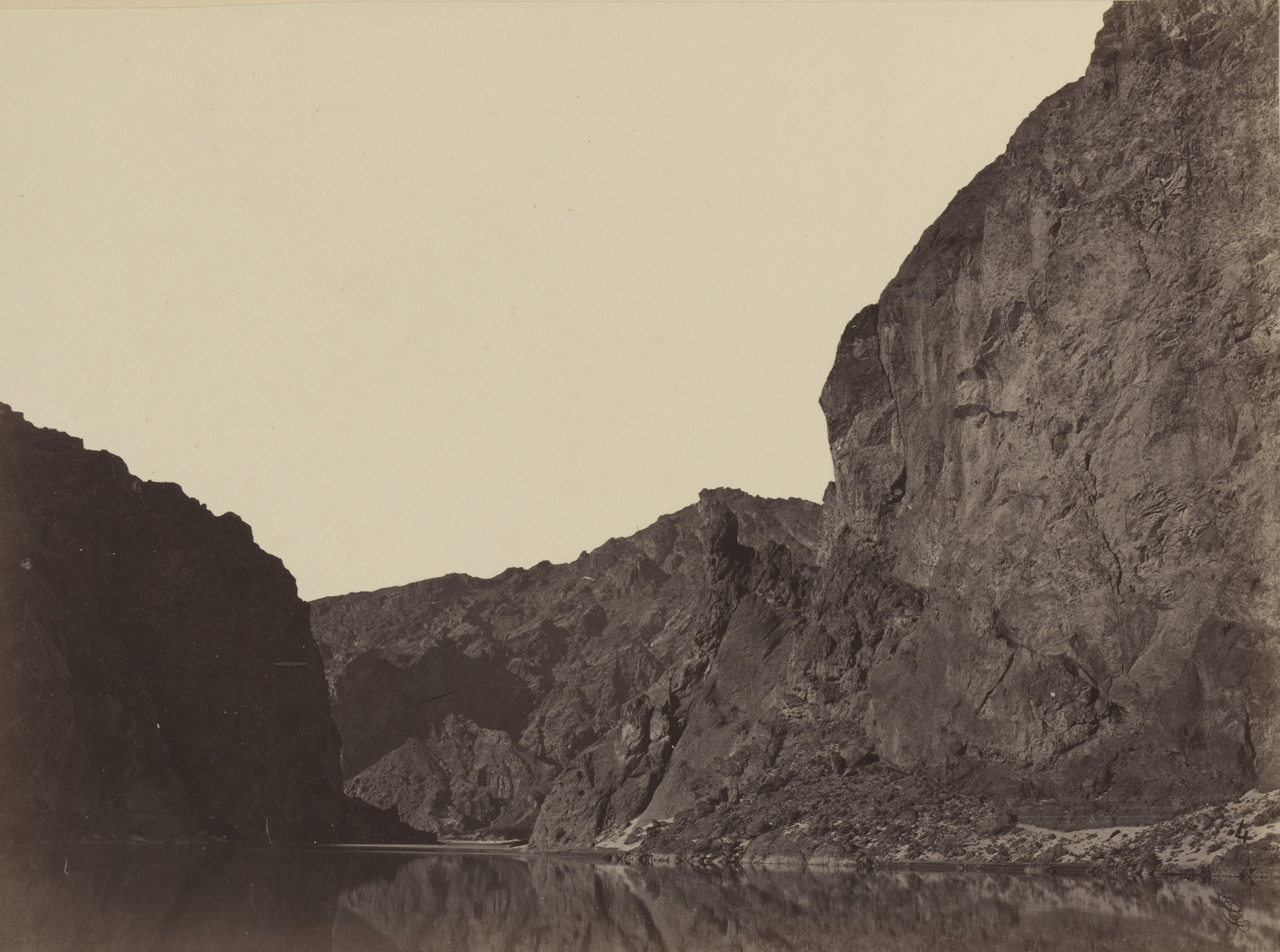 Timothy O'Sullivan. Black Cañon, Colorado River, Looking Below from Big Horn Camp. 1871
