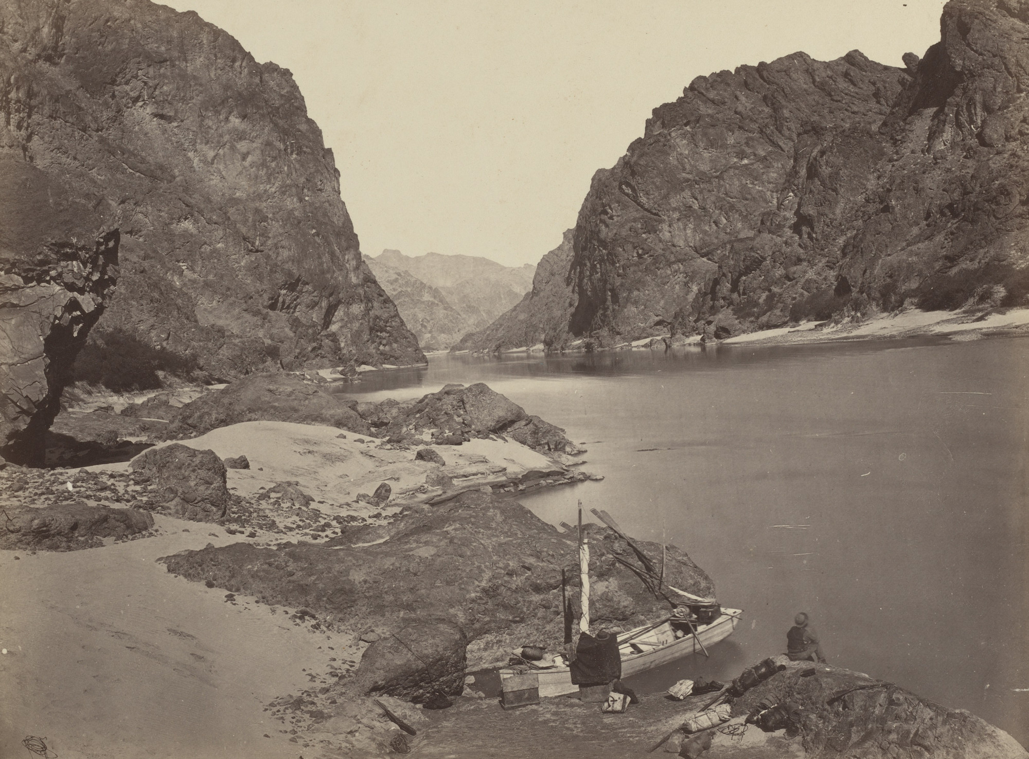 Timothy O'Sullivan. Black Cañon, Colorado River, Looking Above from Camp 7. 1871