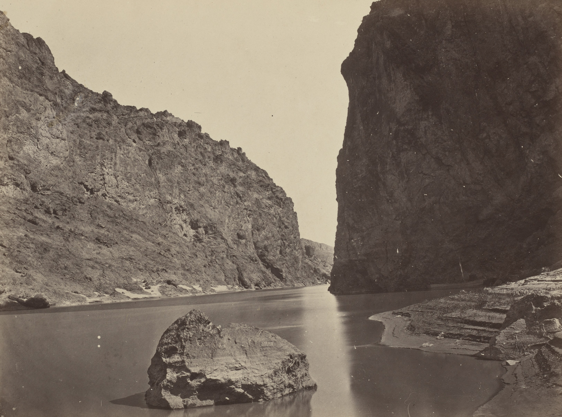 Timothy O'Sullivan. Black Cañon, Colorado River, Looking Below, Near Camp 7. 1871