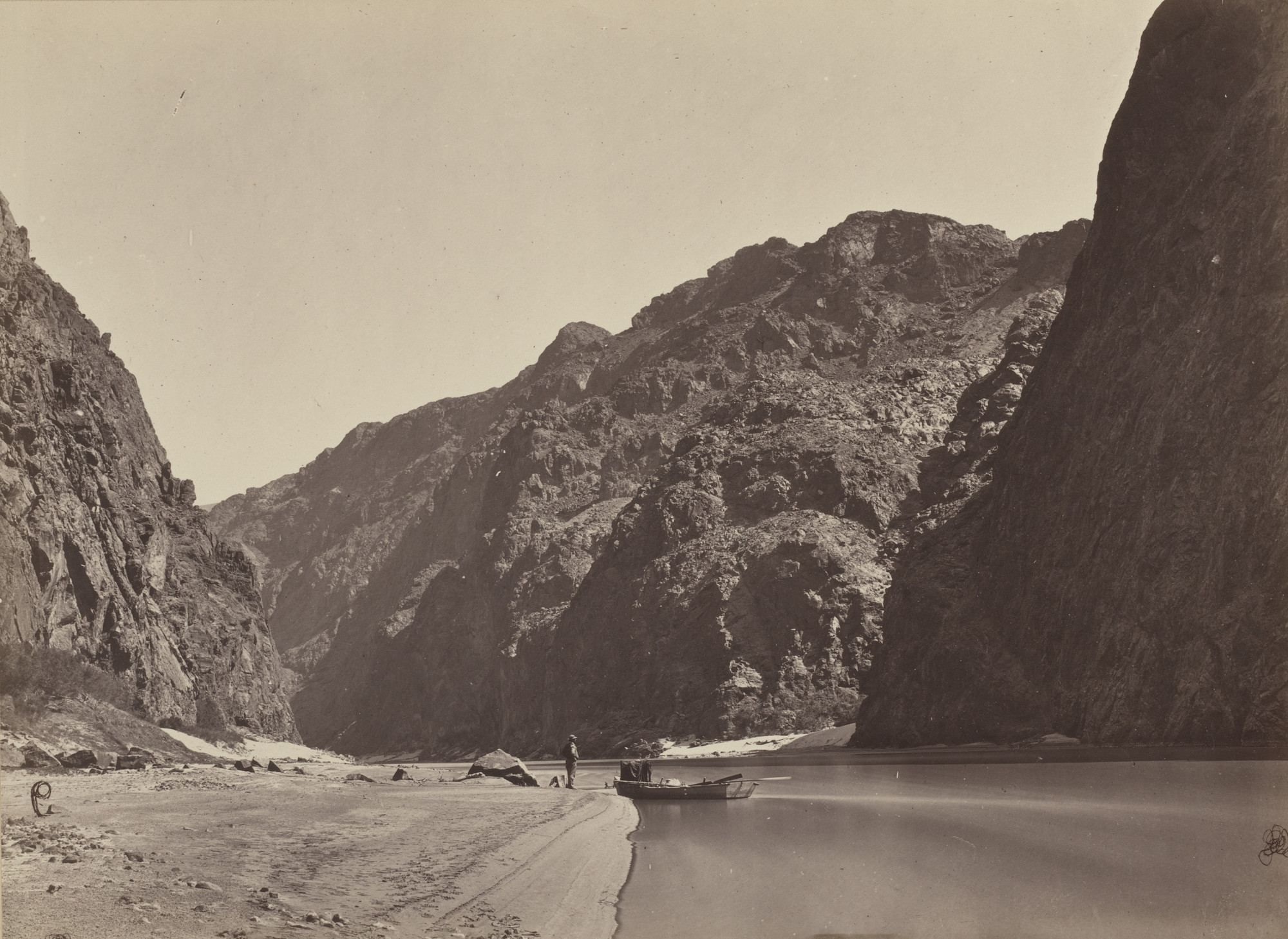 Timothy O'Sullivan. Black Canyon, Colorado River, Looking Above from Mirror Bar. Seasons of 1871, 1872 and 1873