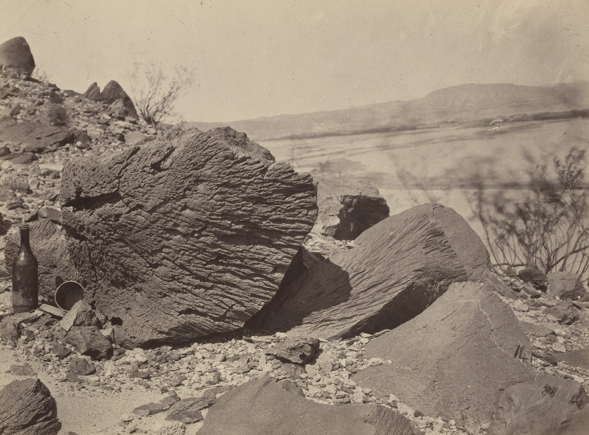 Timothy O'Sullivan. Rock Carved by Drifting Sand, Below Fortification Rock, Arizona. Seasons of 1871, 1872 and 1873