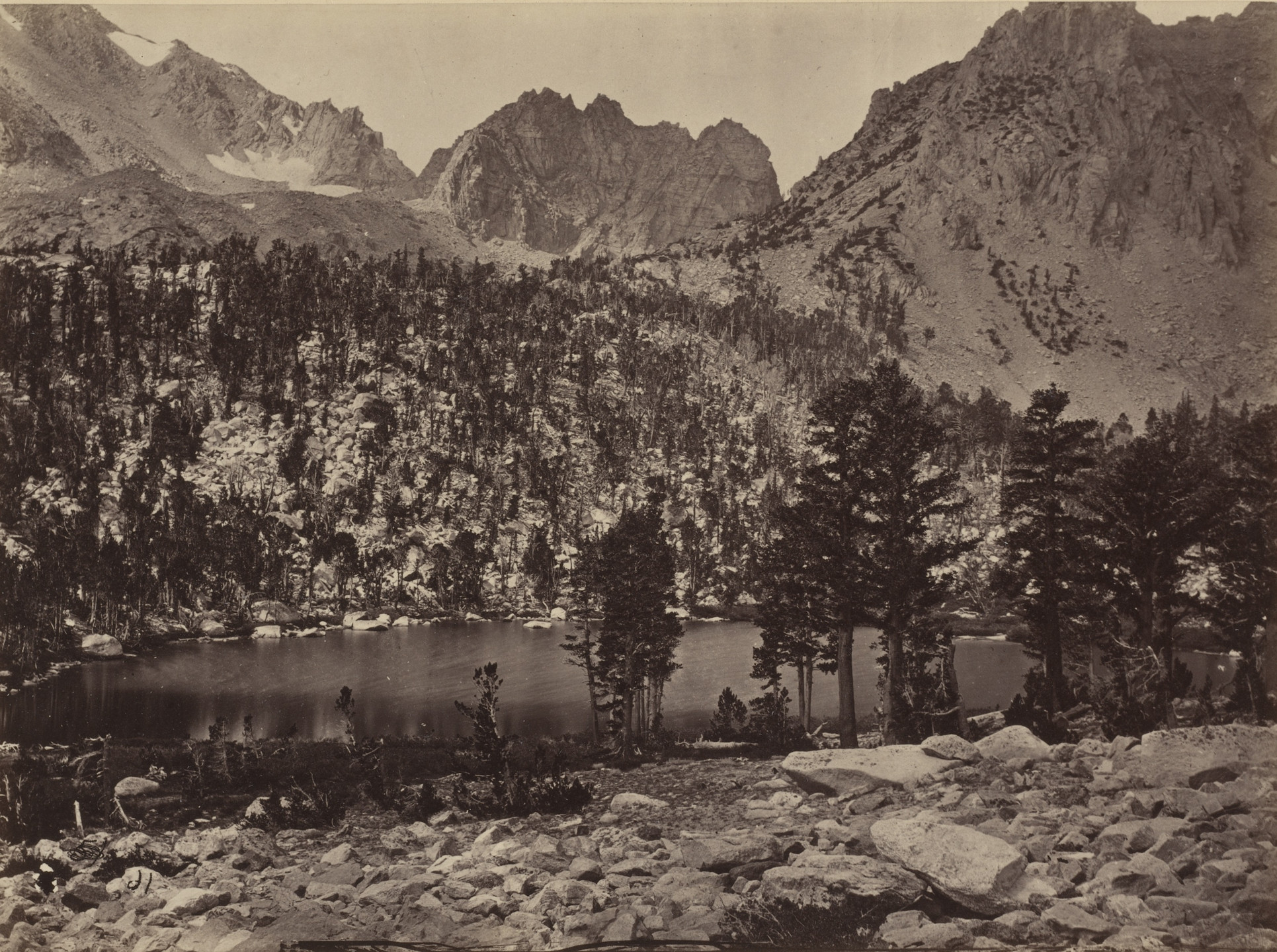 Timothy O'Sullivan. Alpine Lake in the Sierra Nevada, California. Seasons of 1871, 1872 and 1873