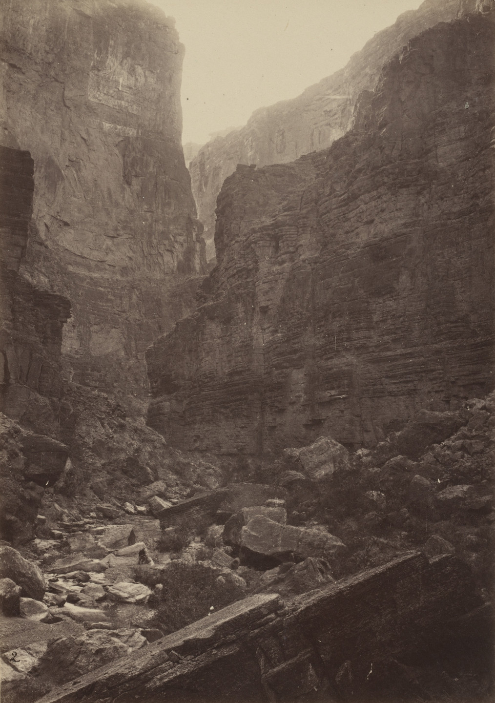 Timothy O'Sullivan, William H. Bell. Canyon of Kanab Wash, Colorado River, Looking North. Seasons of 1871, 1872 and 1873