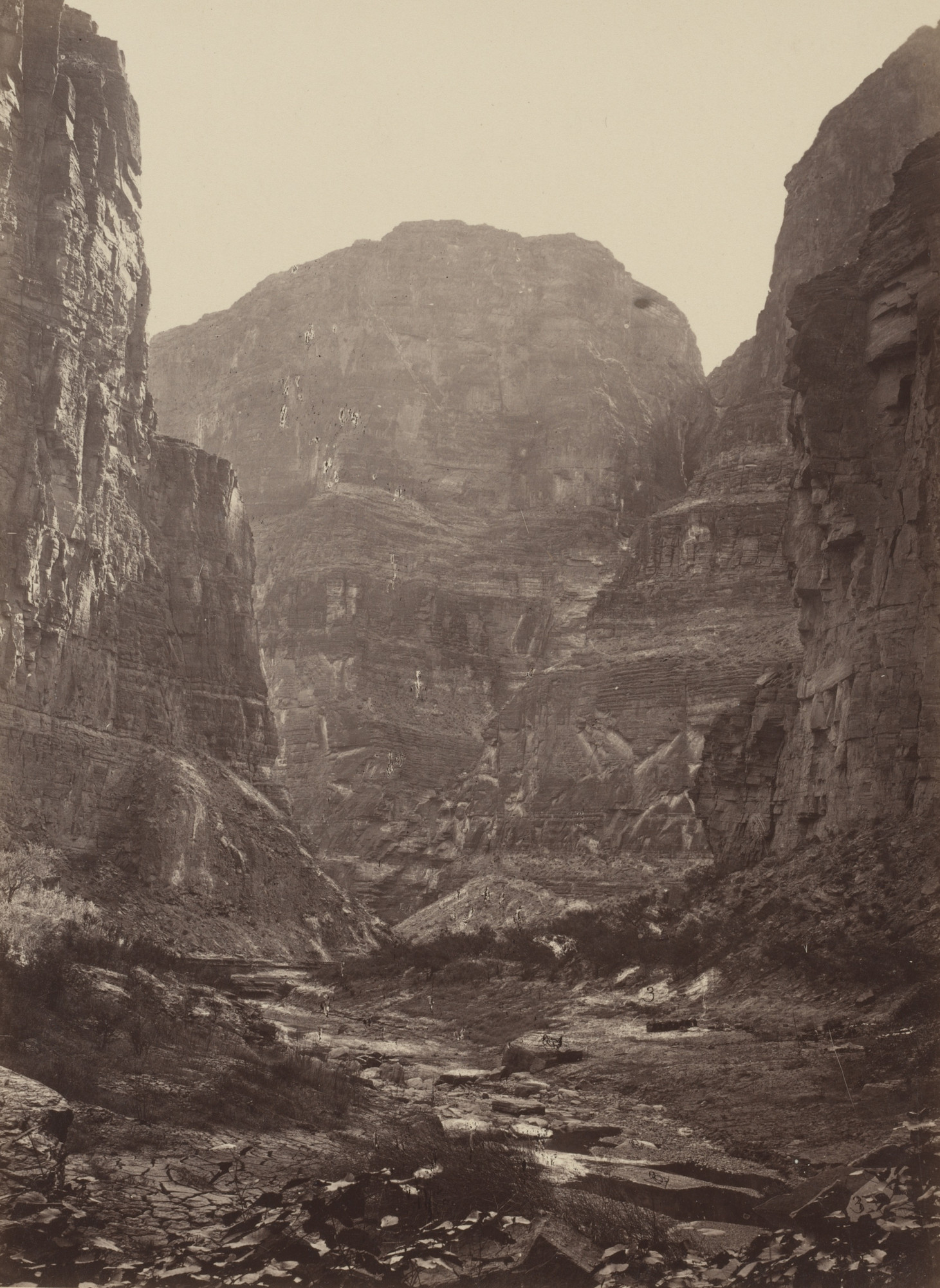Timothy O'Sullivan, William H. Bell. Canyon of Kanab Wash, Colorado River, Looking South. Seasons of 1871, 1872 and 1873