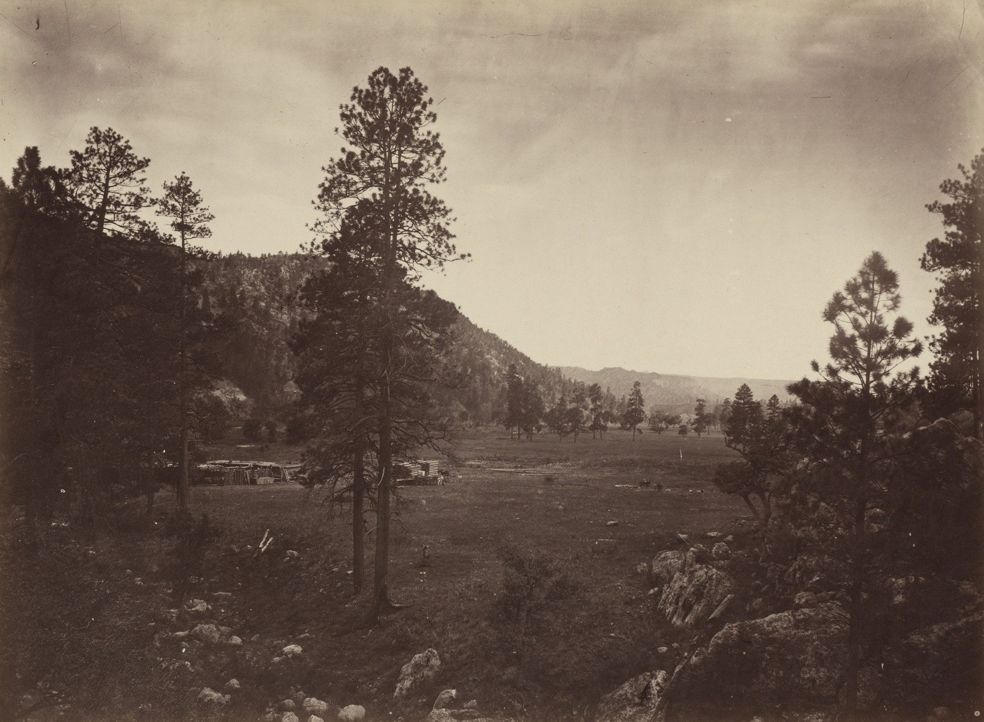 Timothy O'Sullivan. Cooley's Park, Sierra Blanca Range, Arizona. Seasons of 1871, 1872 and 1873