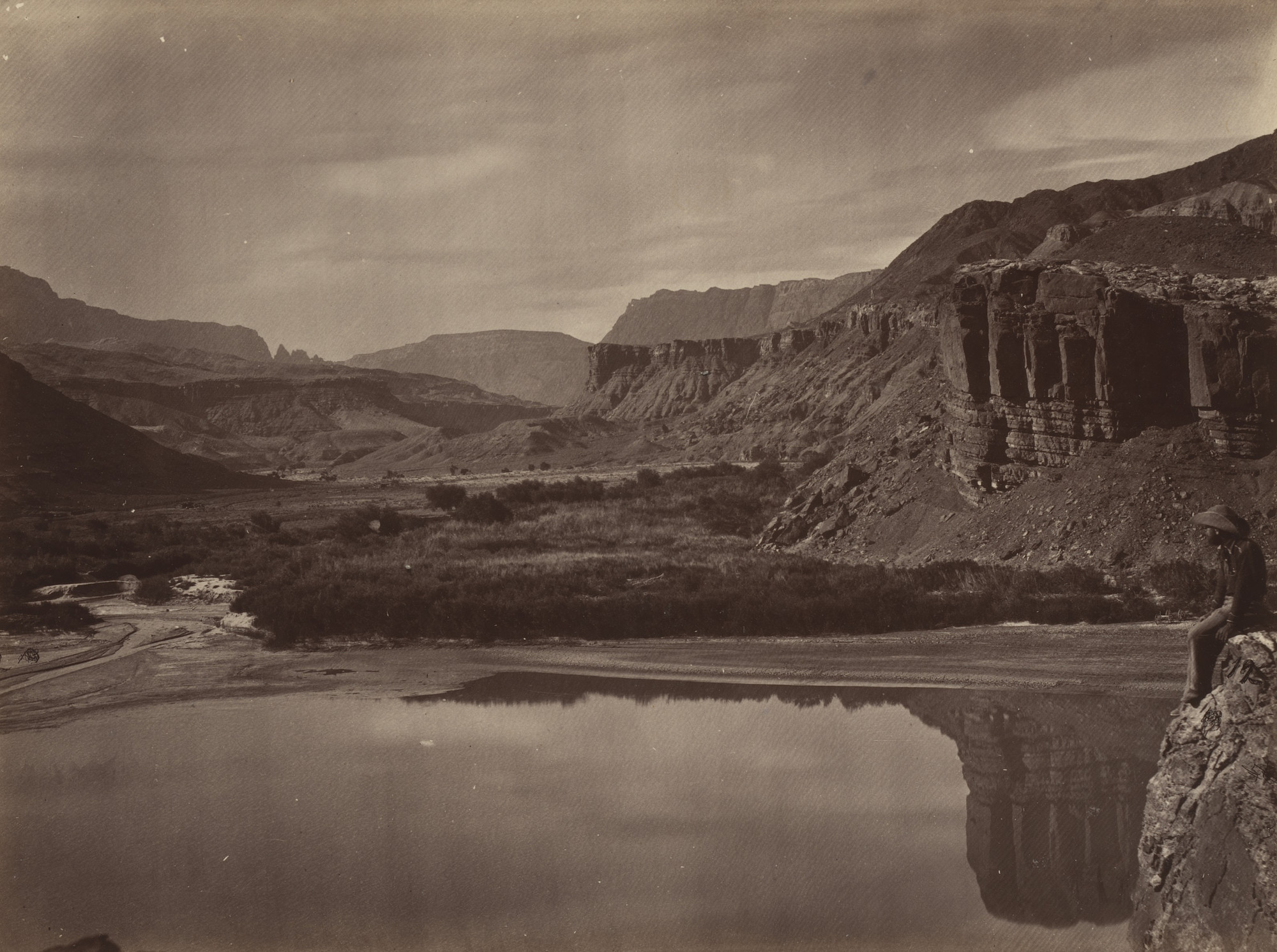 Timothy O'Sullivan. Looking Across the Colorado River to Mouth of Paria Creek. Seasons of 1871, 1872 and 1873