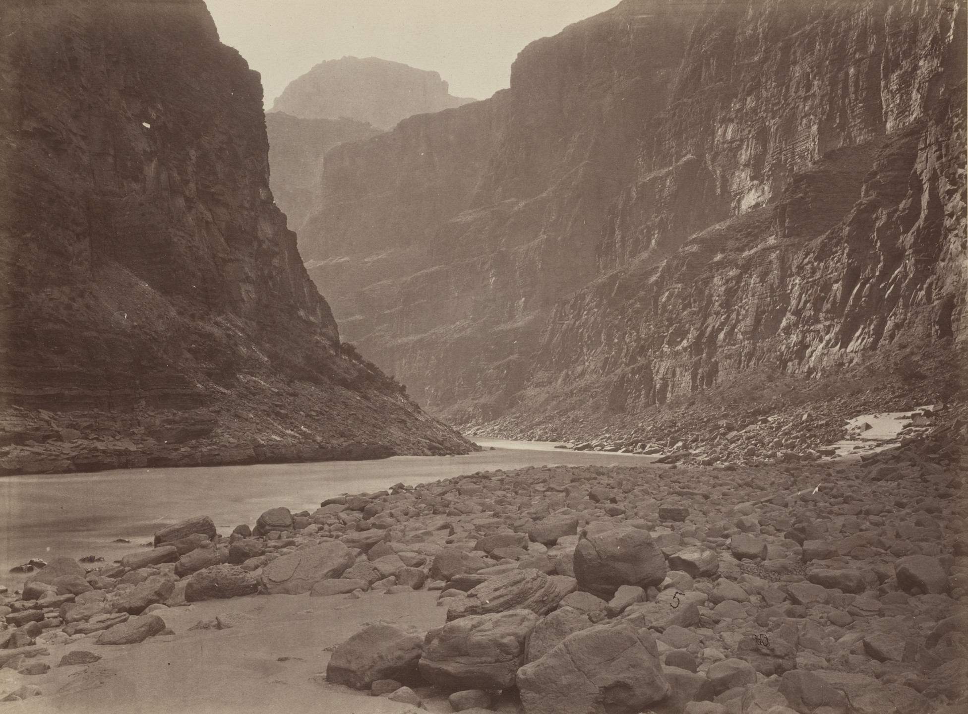 Timothy O'Sullivan, William H. Bell. Colorado River, Mouth of Kanab Wash, Looking West. Seasons of 1871, 1872 and 1873