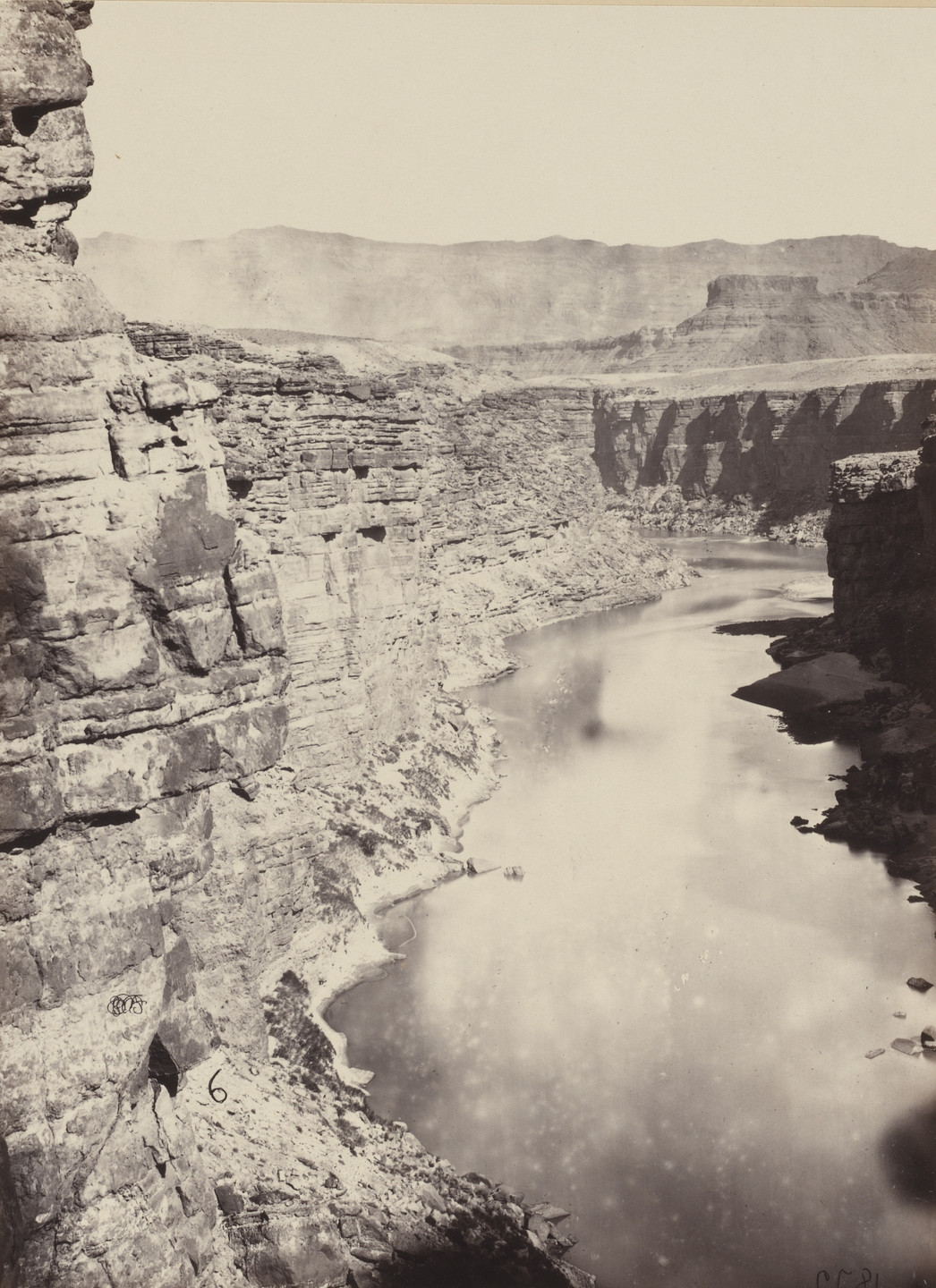 Timothy O'Sullivan, William H. Bell. Grand Canyon, Colorado River, Near Paria Creek, Looking West. Seasons of 1871, 1872 and 1873